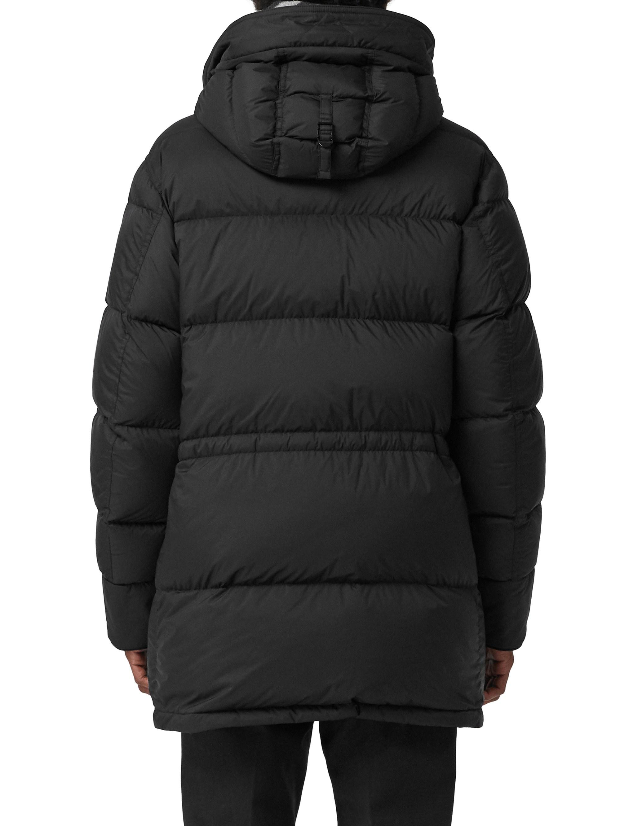 a64167f5b Burberry. Men's Black Hartson Hooded Down Puffer Coat. $1,350 From Saks  Fifth Avenue