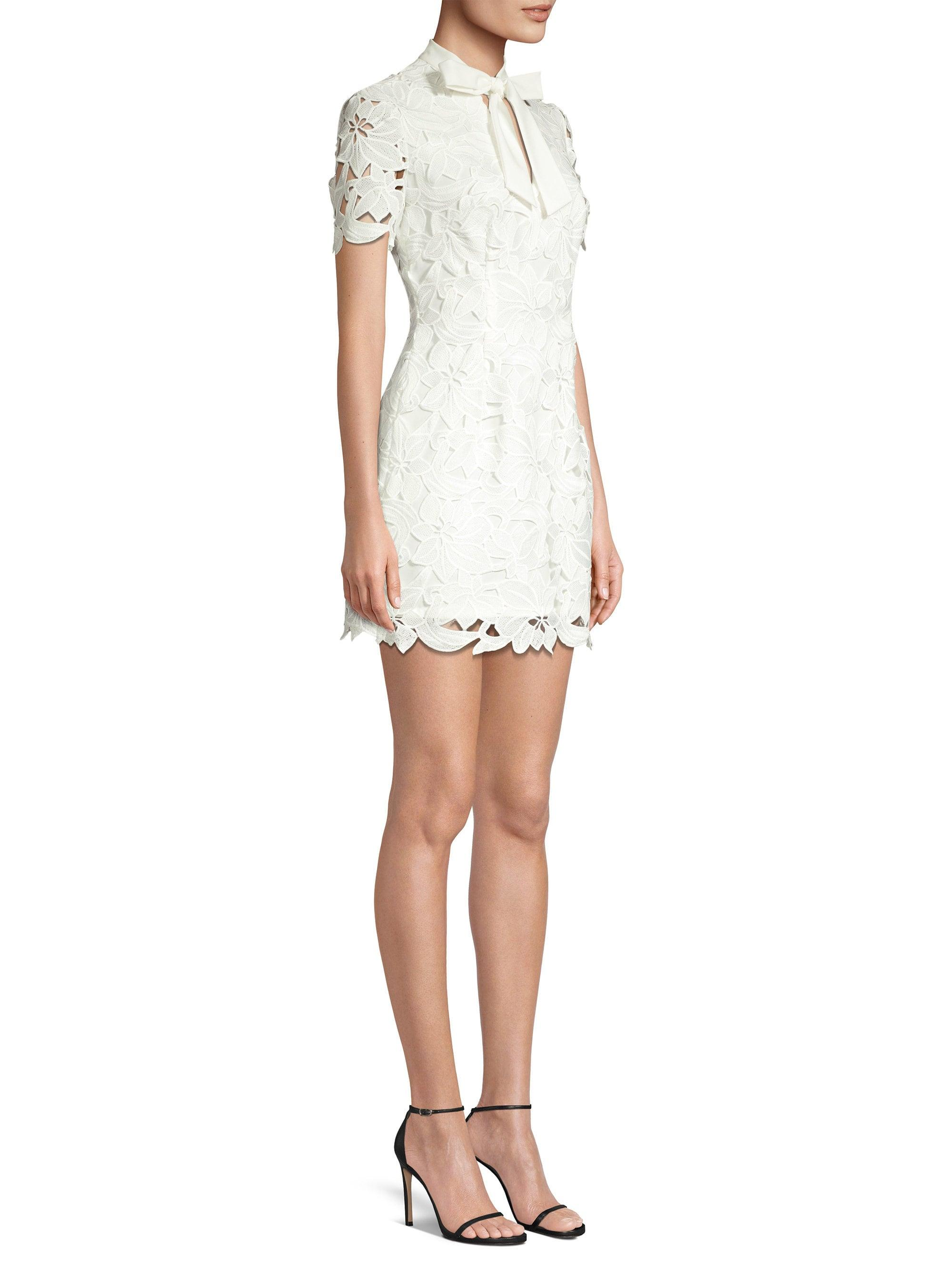 8a8a9b59579 Black Halo Women's Saracen Bow Mini Dress - Moon Mist - Size 2 in White -  Lyst