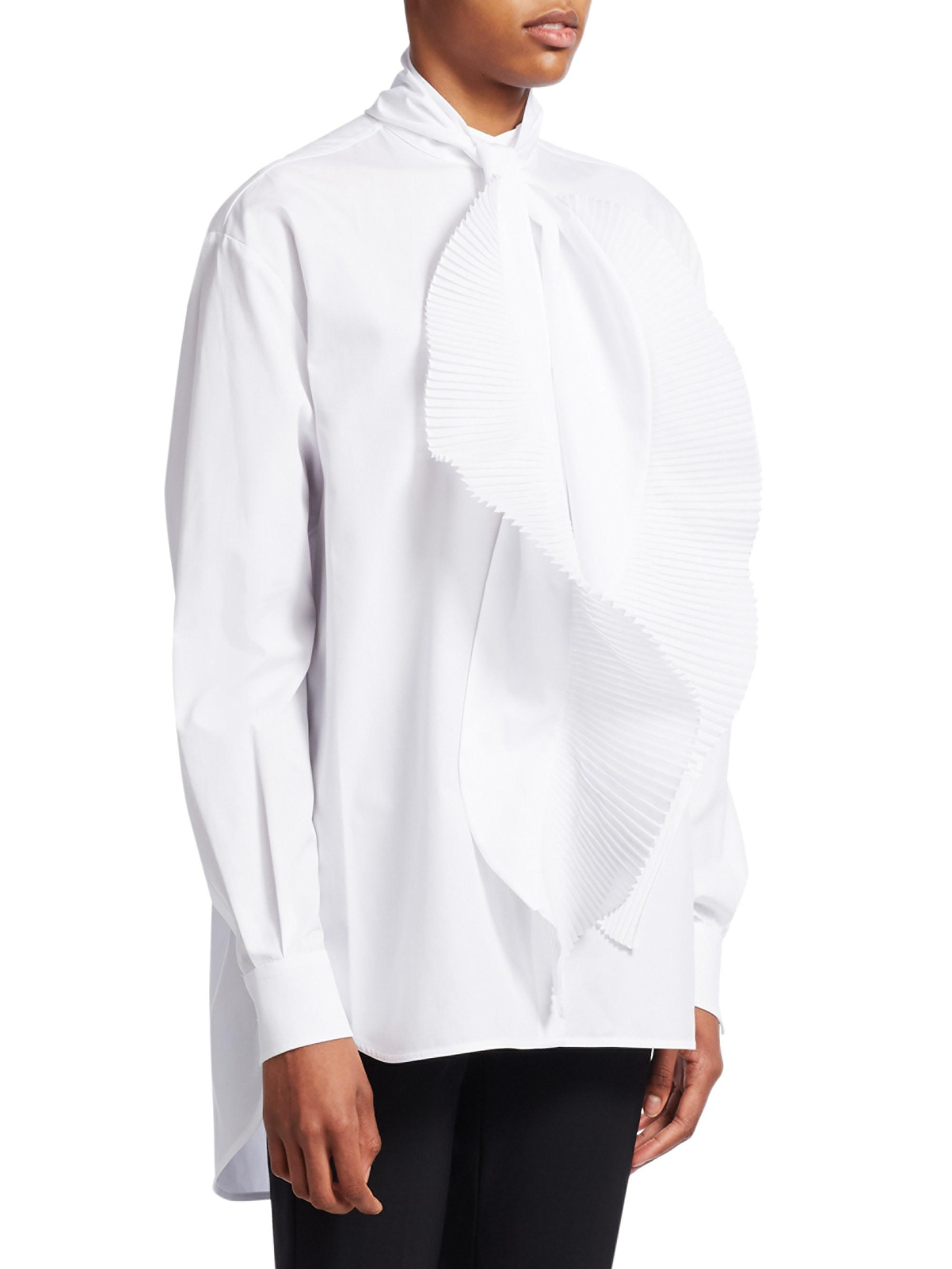 0f135a46602b50 Givenchy. Women's Silk Crepe De Chine Blouse - White - Size 38 (6). $1,350  From Saks Fifth Avenue