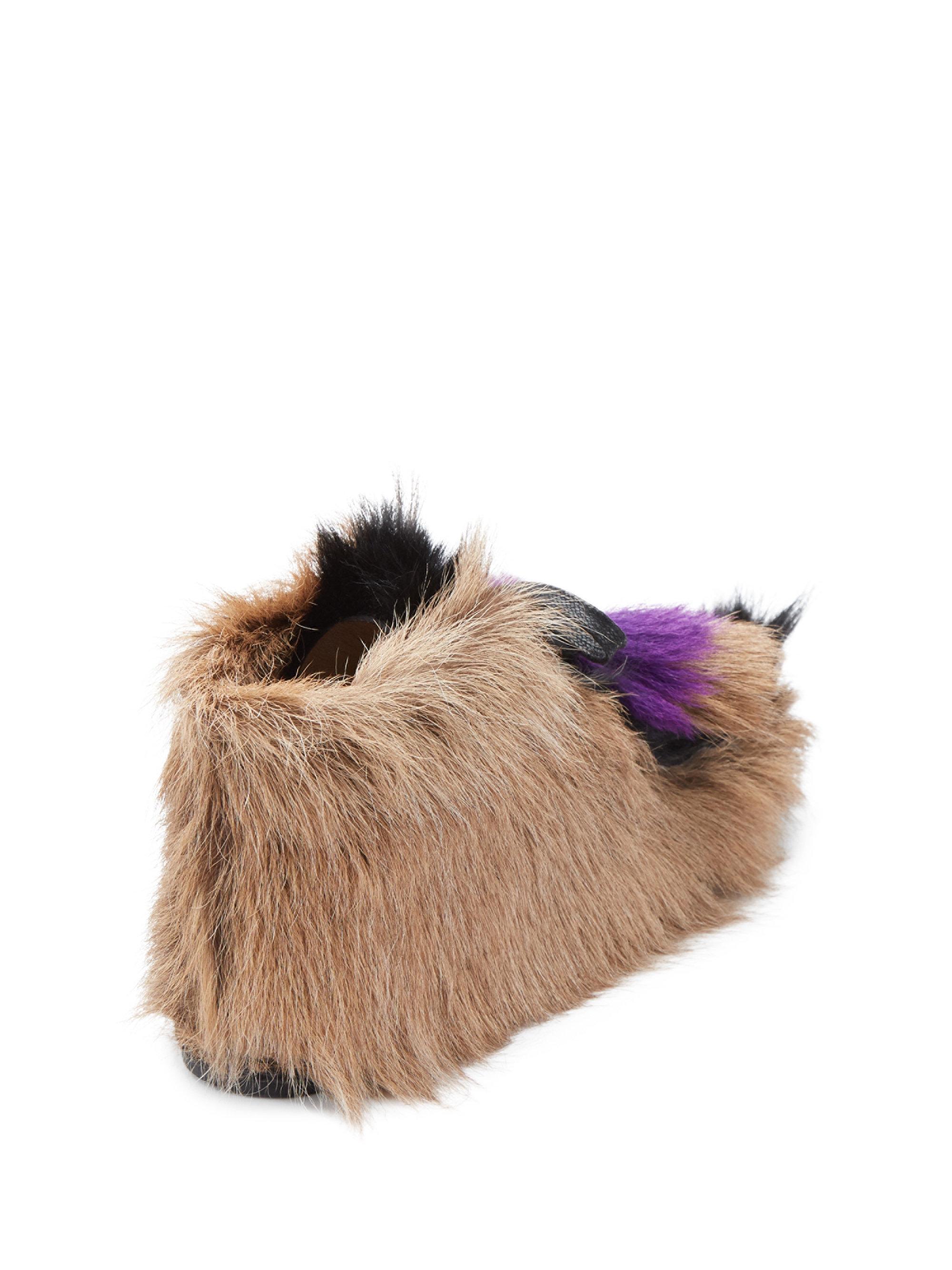 Prada Chevre Mont Furry Desert Booties DE3Pe