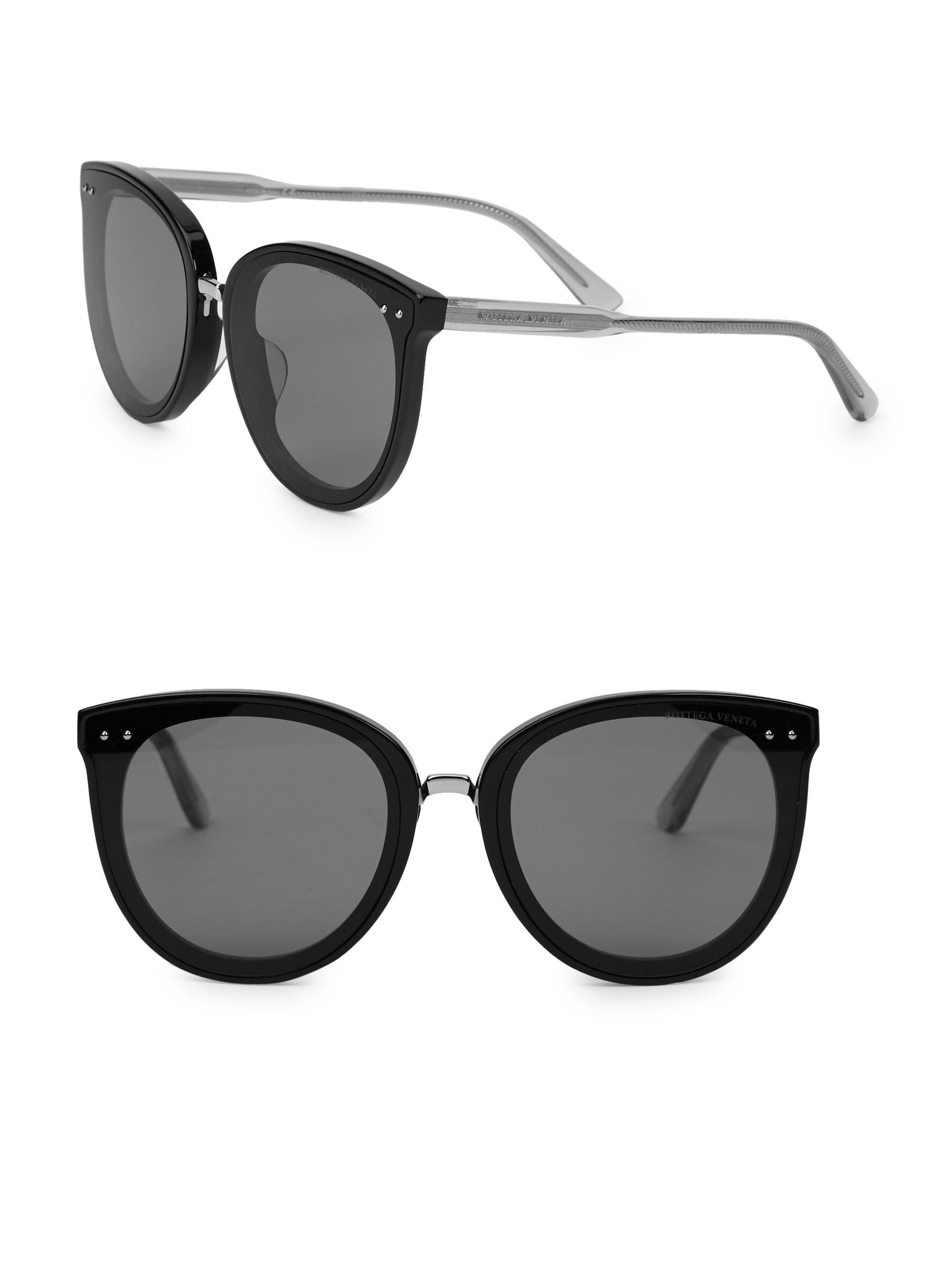 4e048fbf05d Lyst - Bottega Veneta Timeless Elegance 62mm Cat Eye Sunglasses in Black