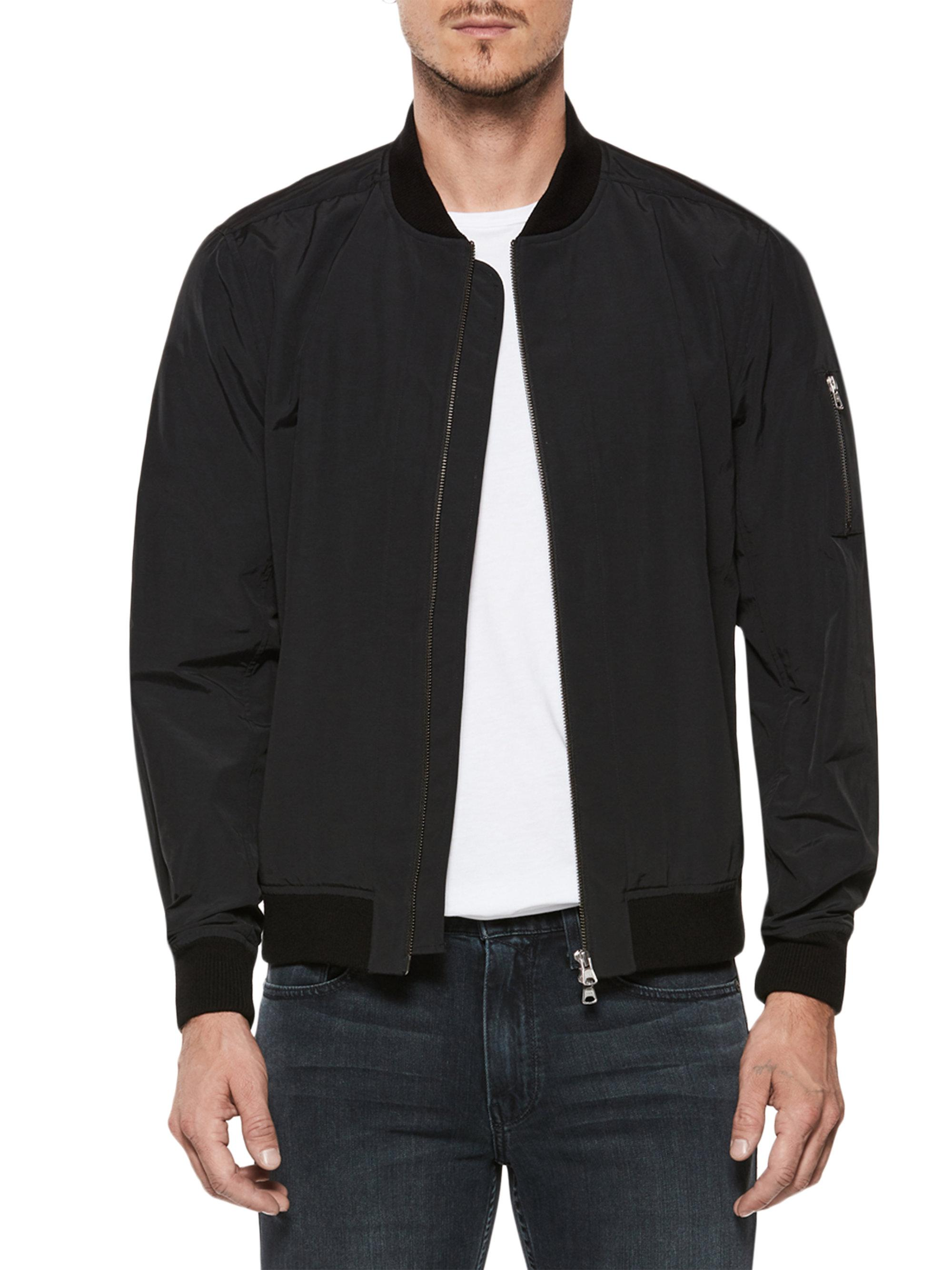 1e95be69c PAIGE Sporty Bomber Jacket in Black for Men - Lyst
