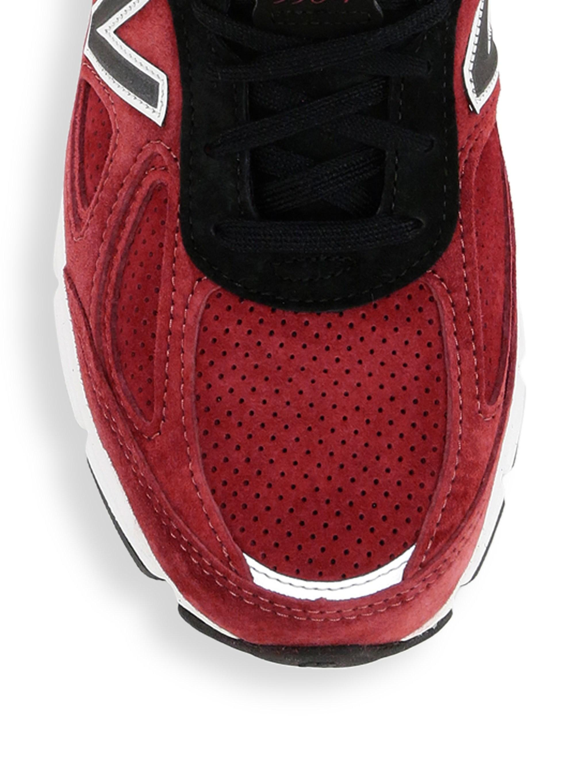 best authentic e82cb 05dc4 New Balance - Men s 990v4 Made In Usa Suede Sneakers - Mercury Red for Men  -. View fullscreen