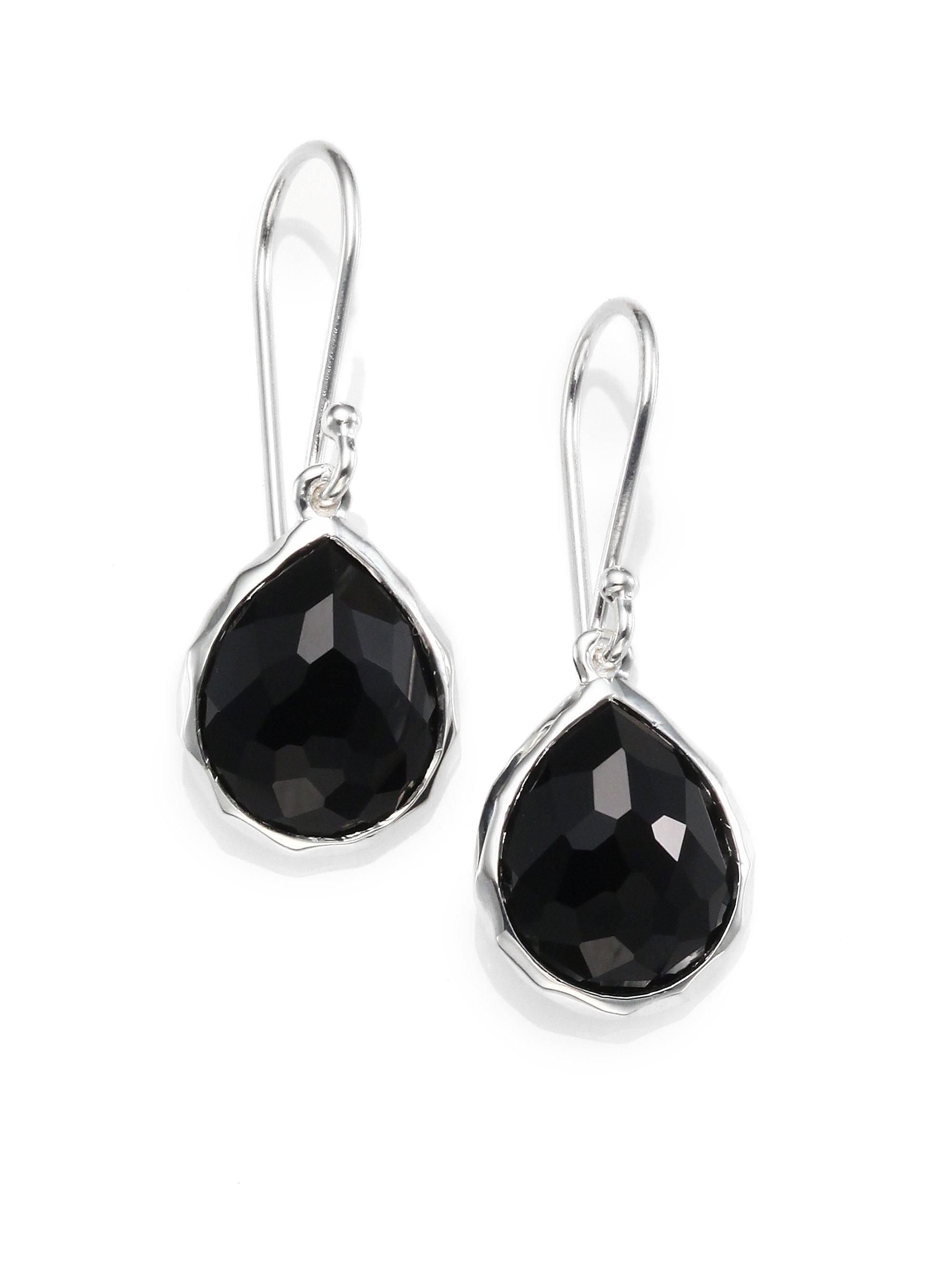 Ippolita 18K Rock Candy Teardrop Cascade Earrings in Black Onyx GN5pzSESLD