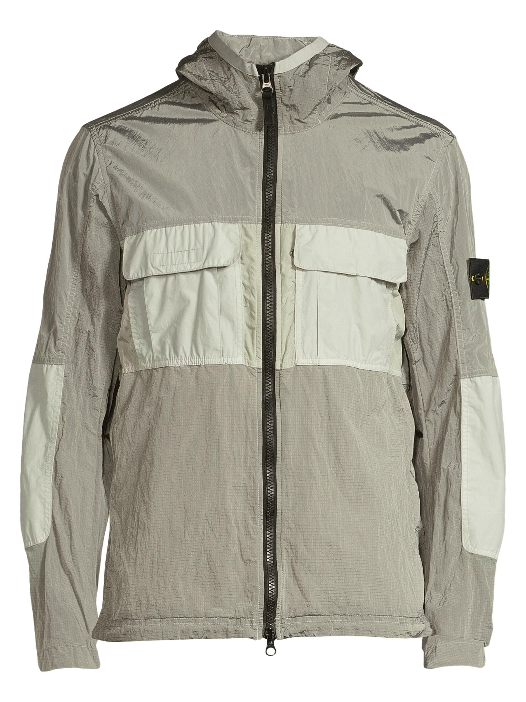 7f83fba32 Stone Island Shiny Metal Track Jacket in Gray for Men - Lyst