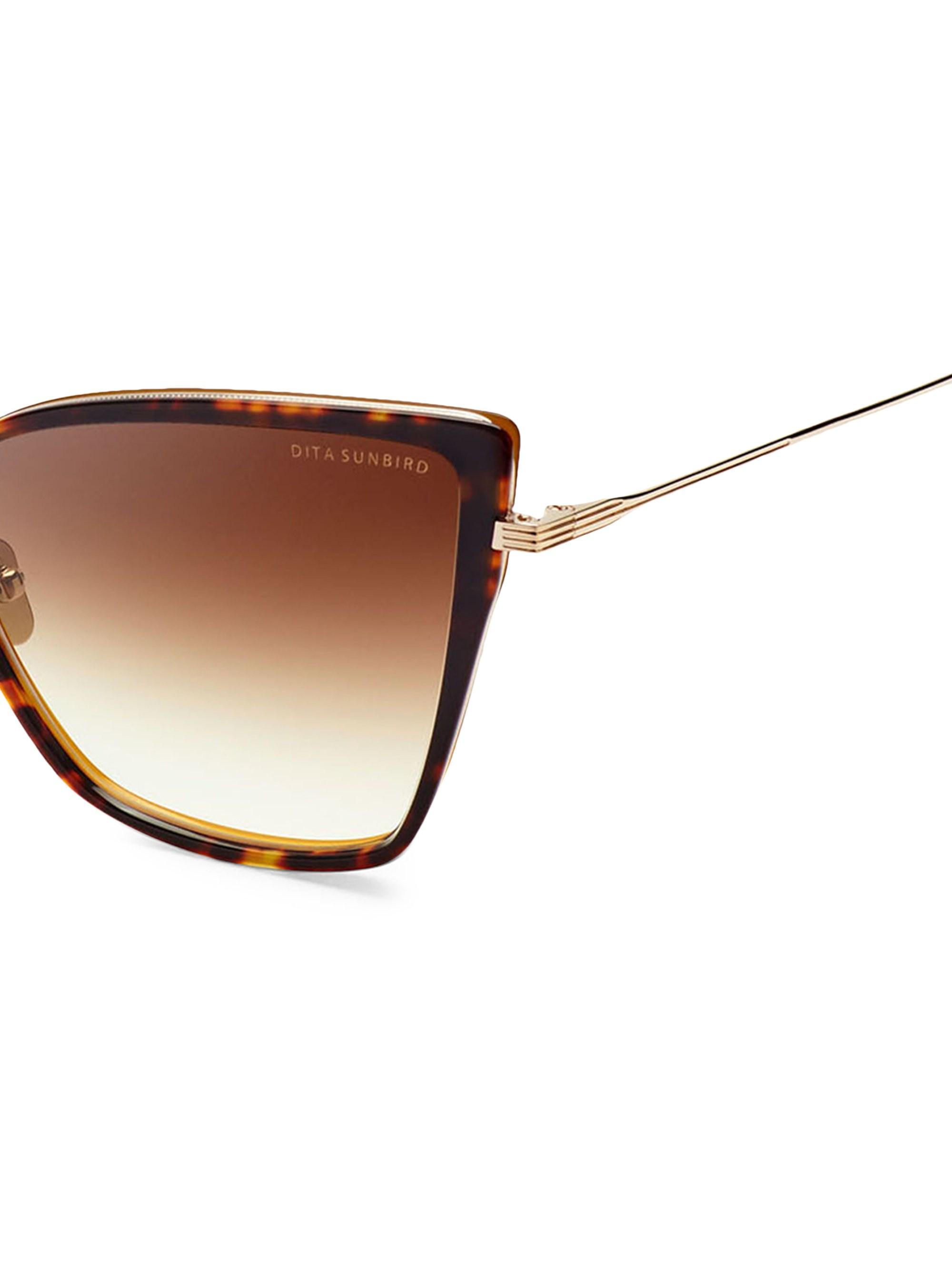 15280a97bbd Dita Eyewear - Metallic Women s Sunbird 59mm Cateye Sunglasses - Gold - Lyst.  View fullscreen