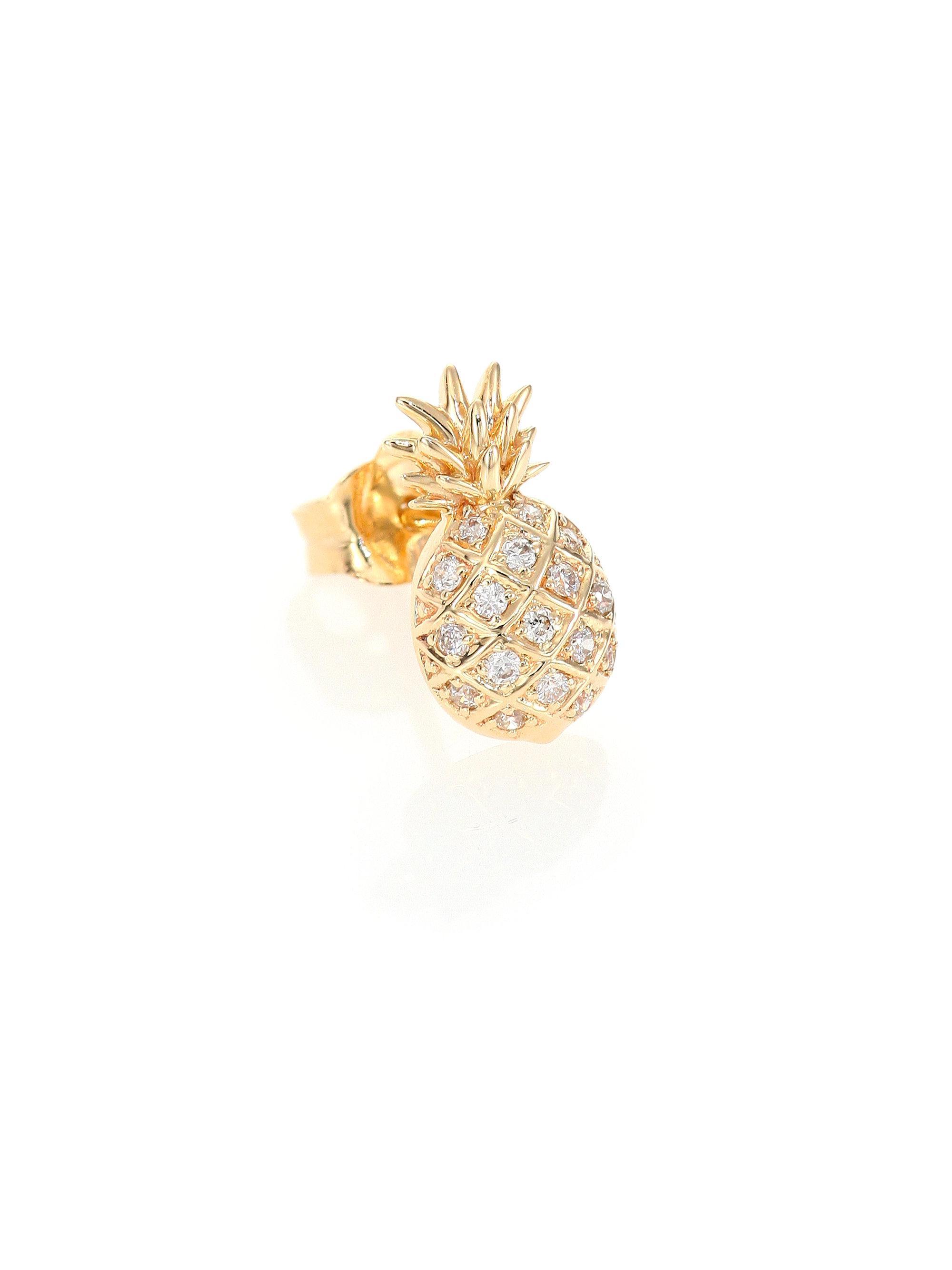 Sydney Evan 14K Gold Diamond Screw Stud Single Earring 26F5K