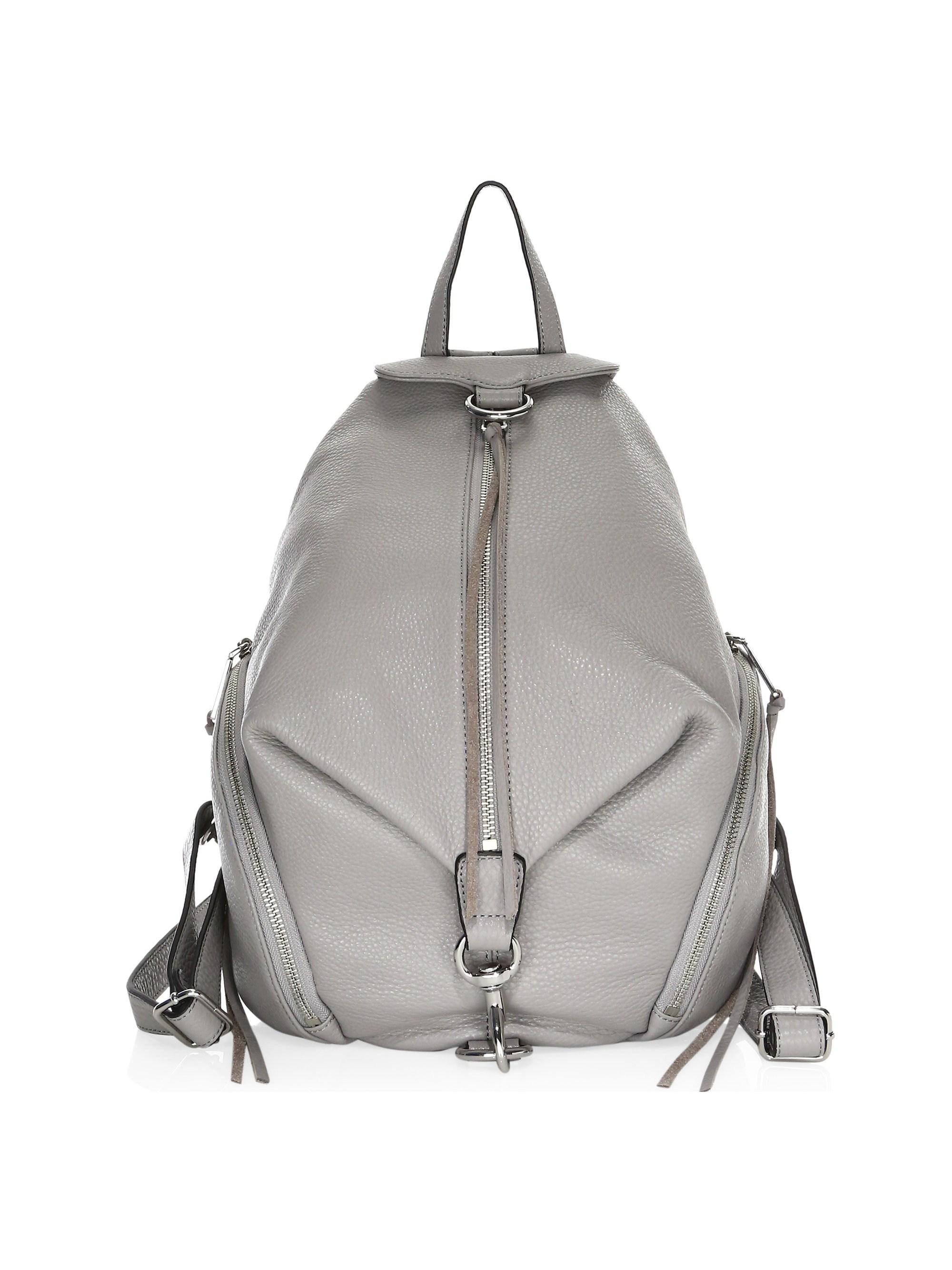 bd2c74286 Lyst - Rebecca Minkoff Julian Leather Backpack in Gray - Save 30%