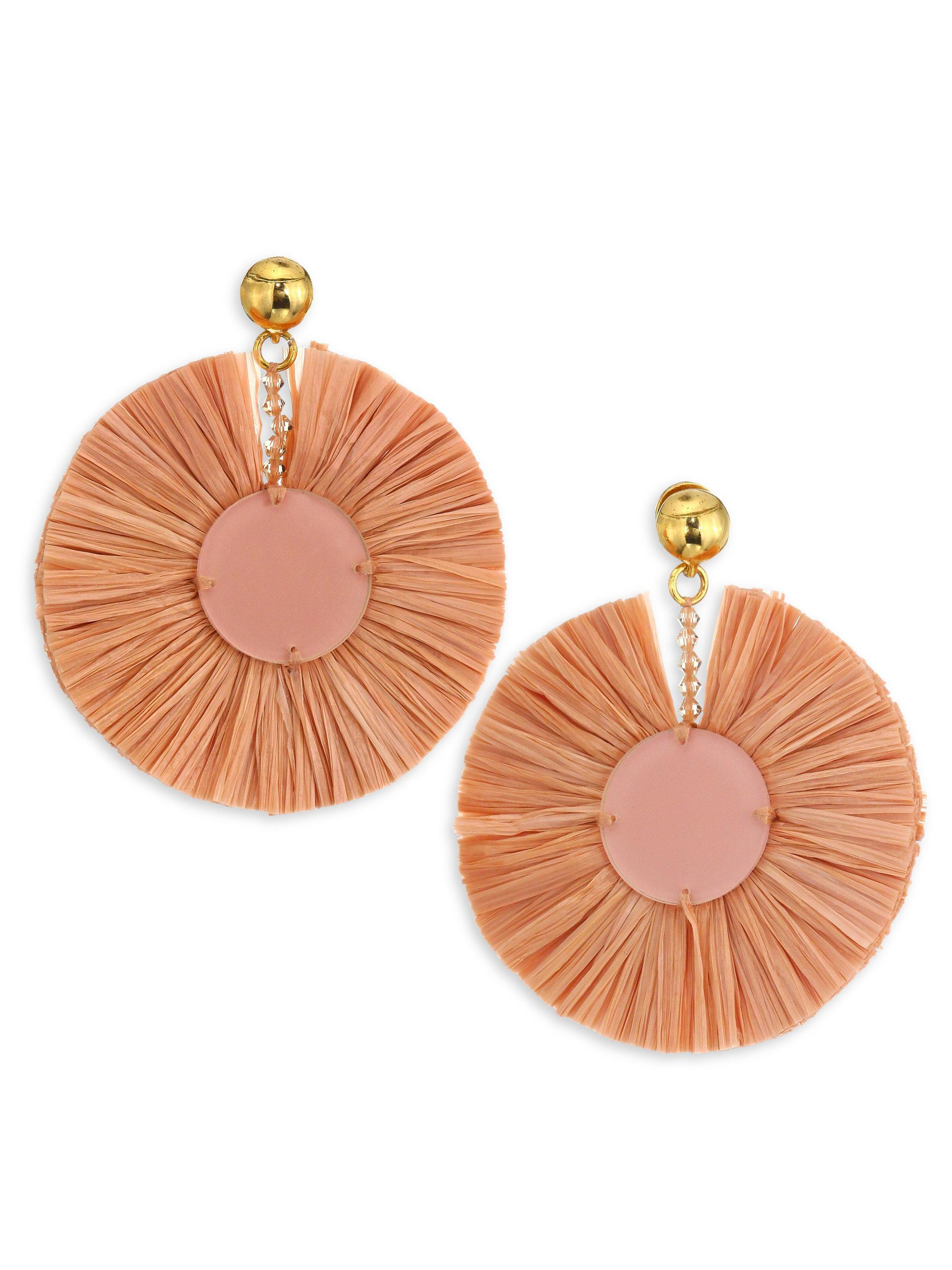 Disk earrings - Yellow & Orange Oscar De La Renta bcM5Kxl