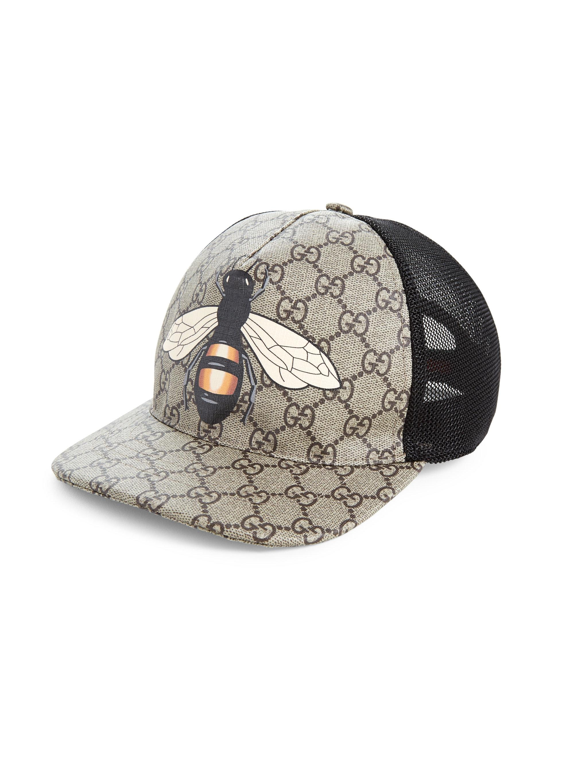 0124765d33eb71 Gucci Bee Baseball Cap in Natural for Men - Lyst