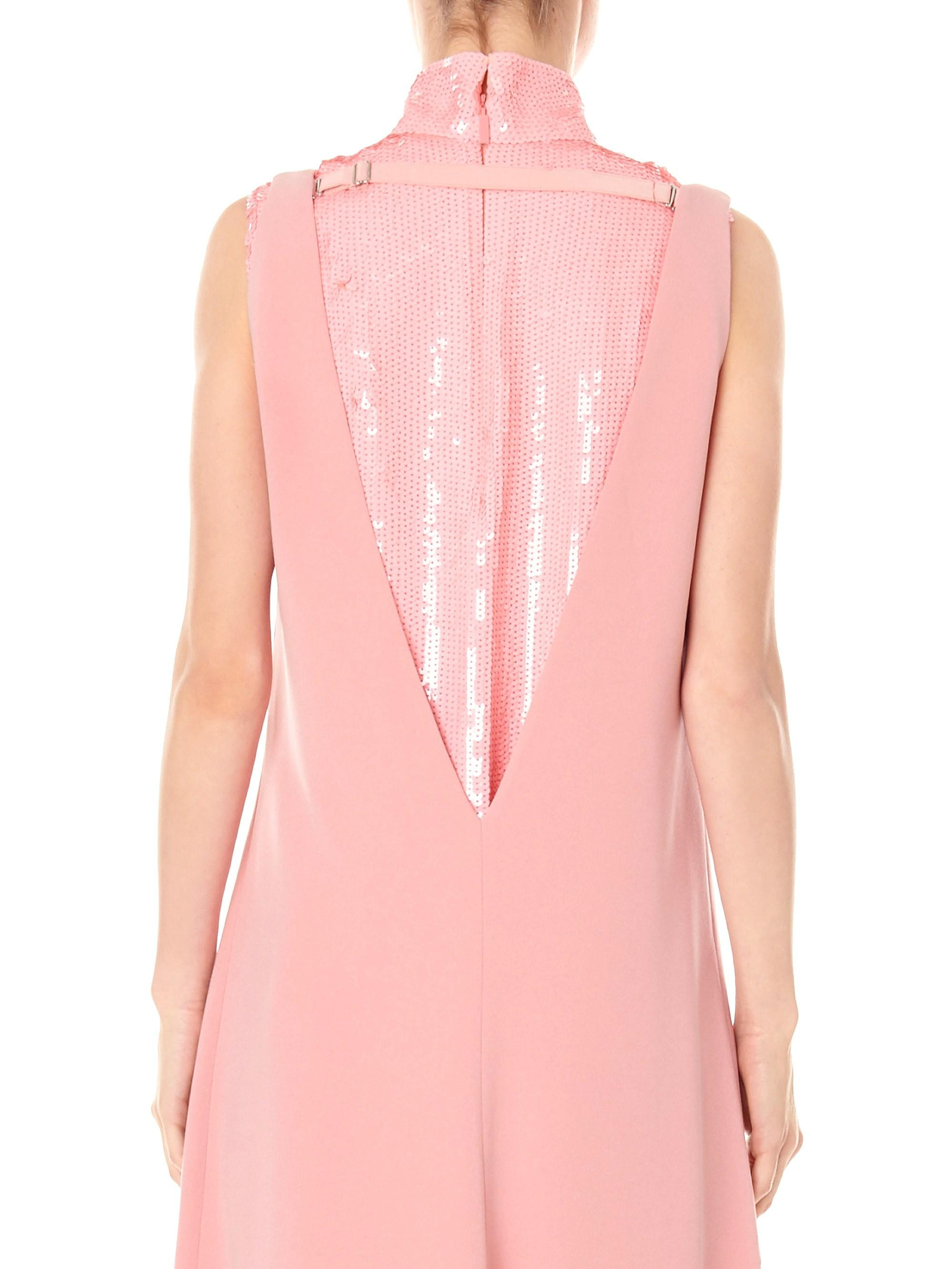 a709b346db83d8 Tibi Silk Sequin Turtleneck Shell Top in Pink - Lyst