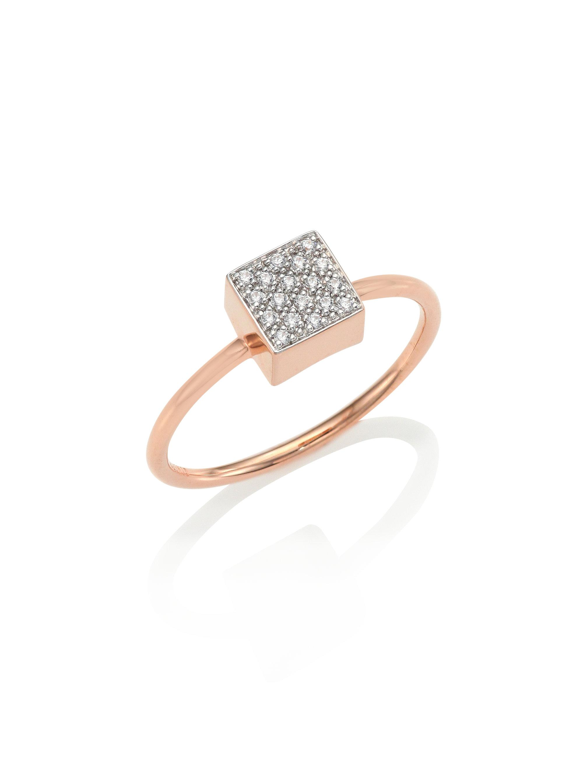 Ginette NY Ever Turquoise Square 18-karat rose gold ring Glel5y7mq