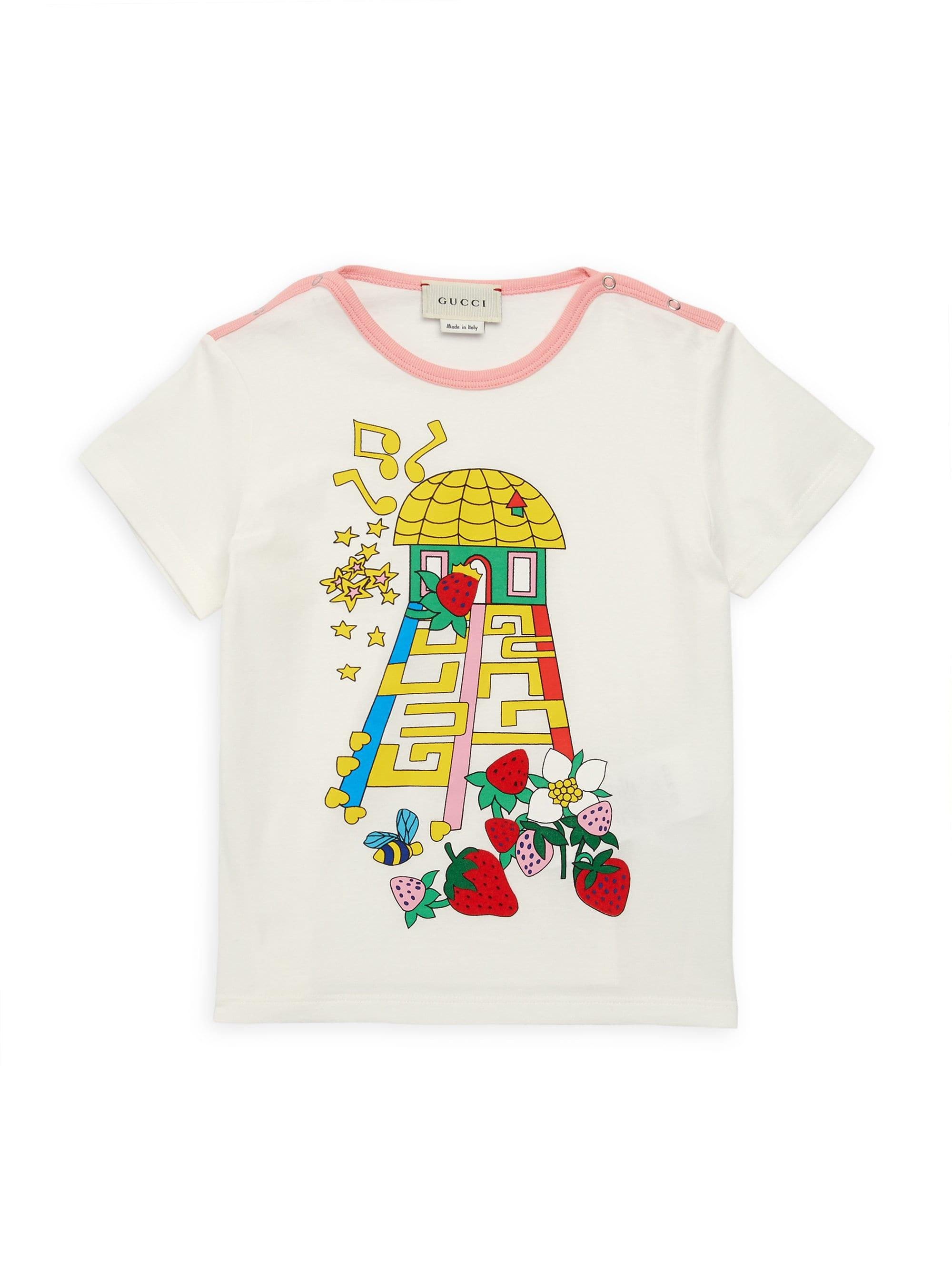 f72959566f57 Gucci - White Baby Girl s Treehouse-print Tee - Lyst. View fullscreen
