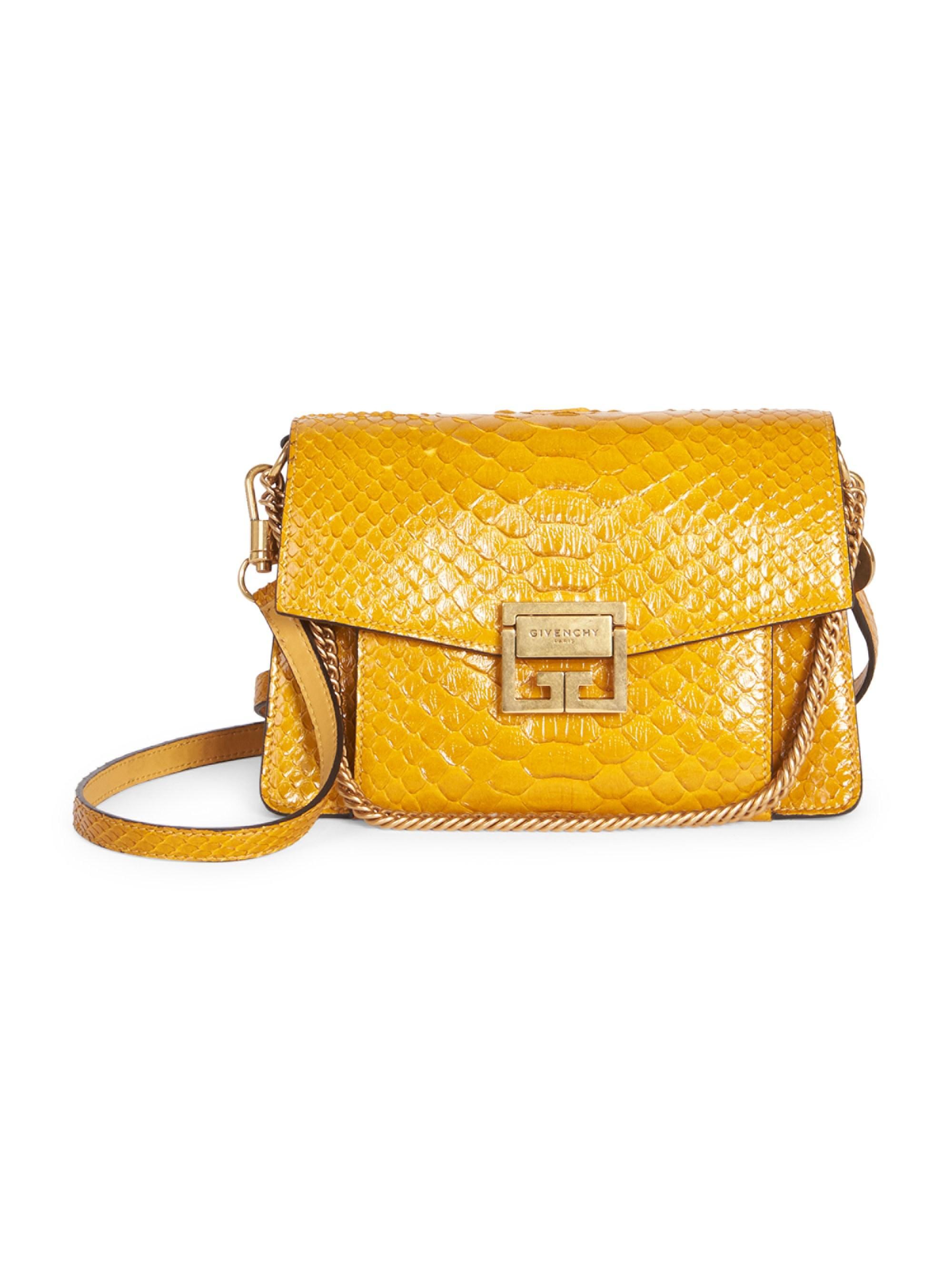 8f62d2c27e Givenchy - Metallic Women's Small Python Gv3 Shoulder Bag - Gold - Lyst.  View fullscreen