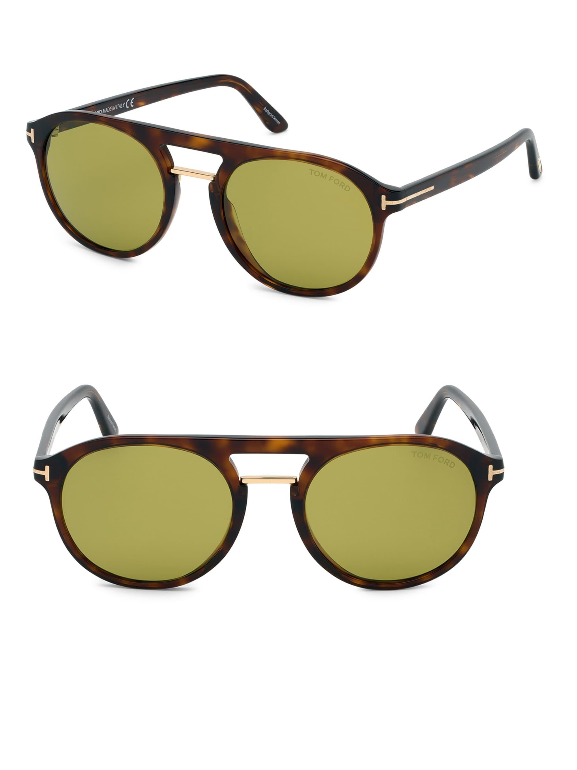 2cadee21c1a Tom Ford - Green Ivan 54mm Round Sunglasses for Men - Lyst. View fullscreen