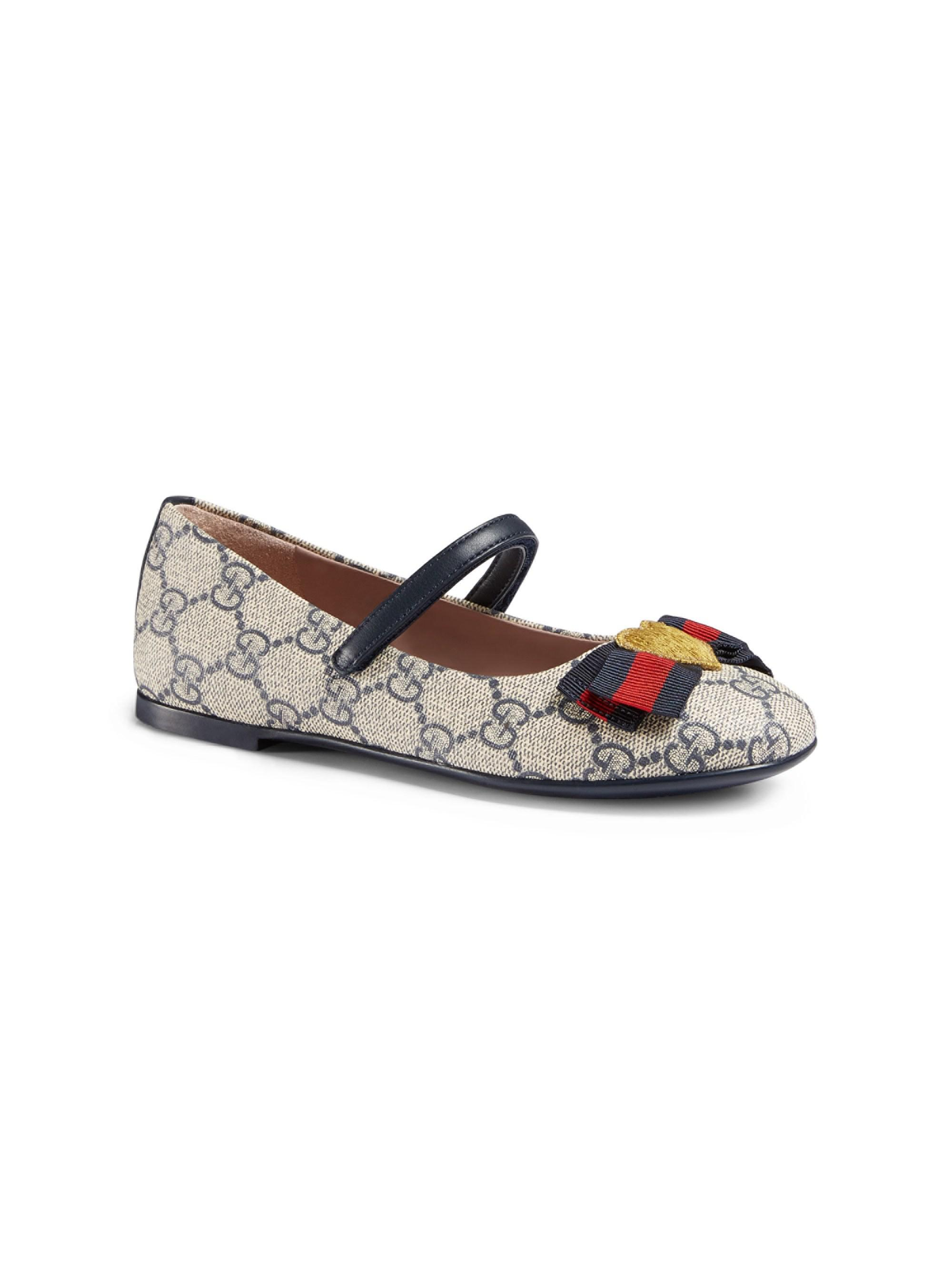4283794a166a0b Gucci Kid s GG Supreme Ballet Flats in Blue - Lyst