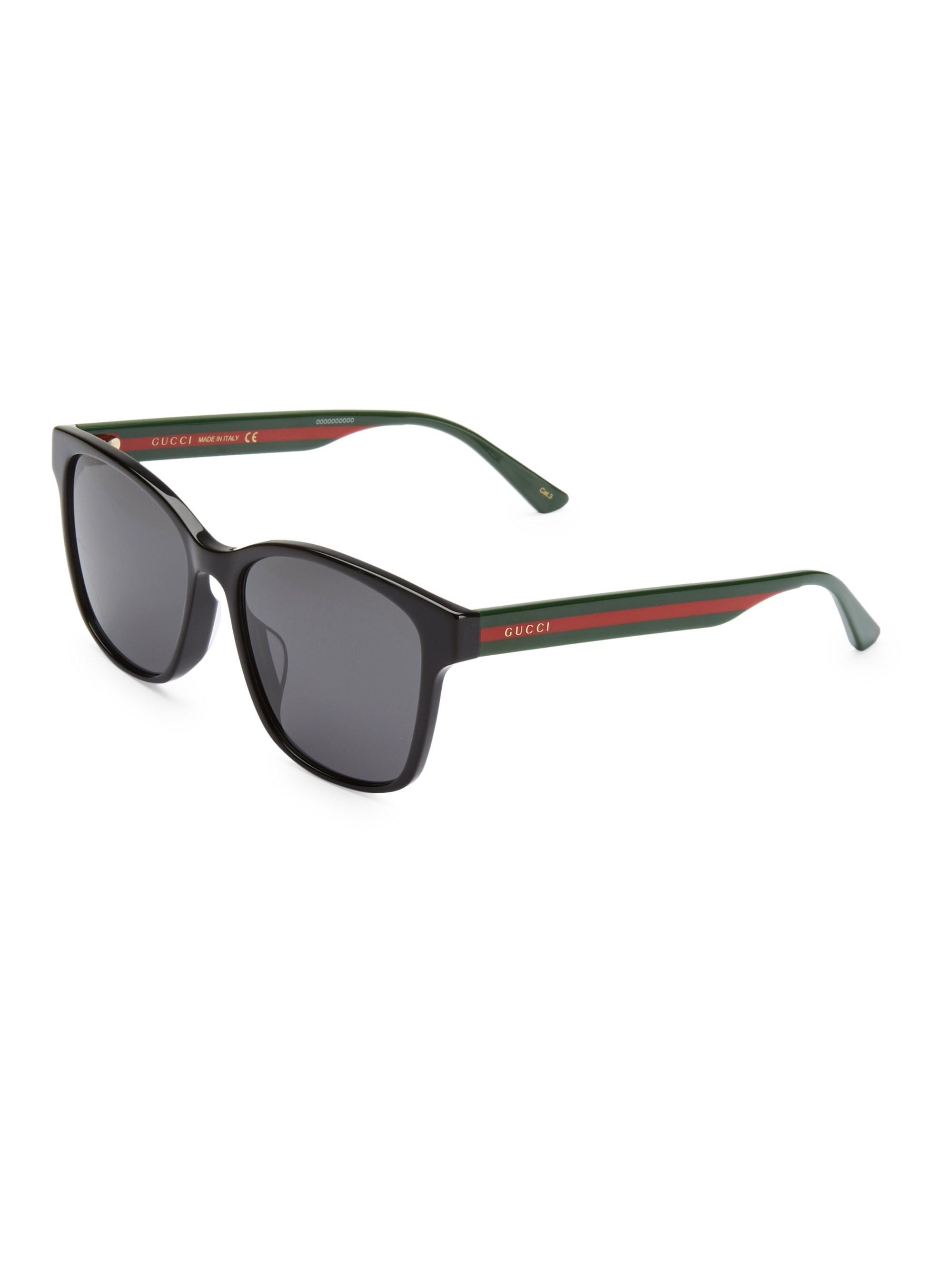 aa861786f5 Gucci 56mm Unisex Acetate Sunglasses in Black for Men - Lyst