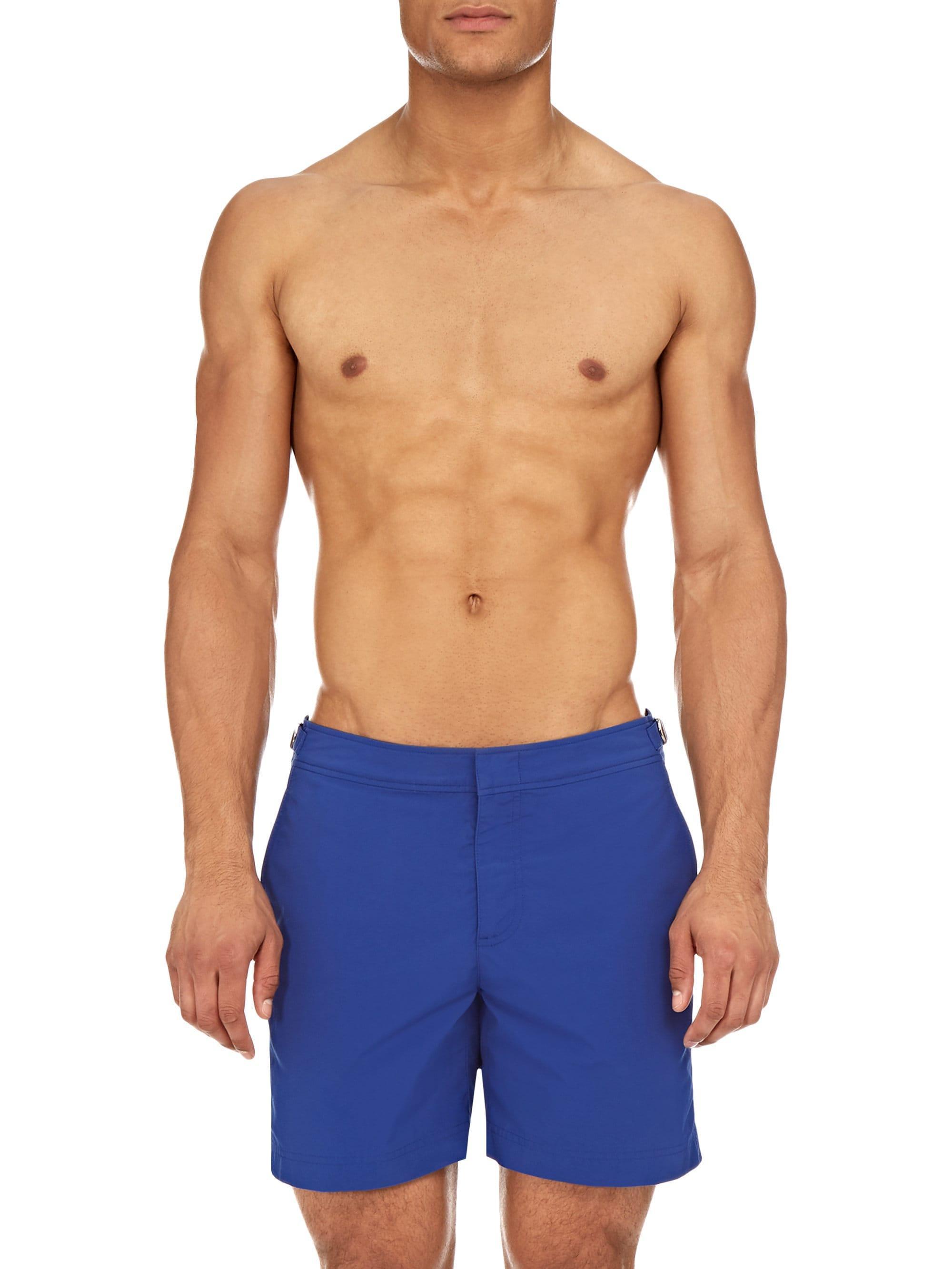 47d949366a Orlebar Brown Bulldog Mazanine Swim Trunks in Blue for Men - Lyst