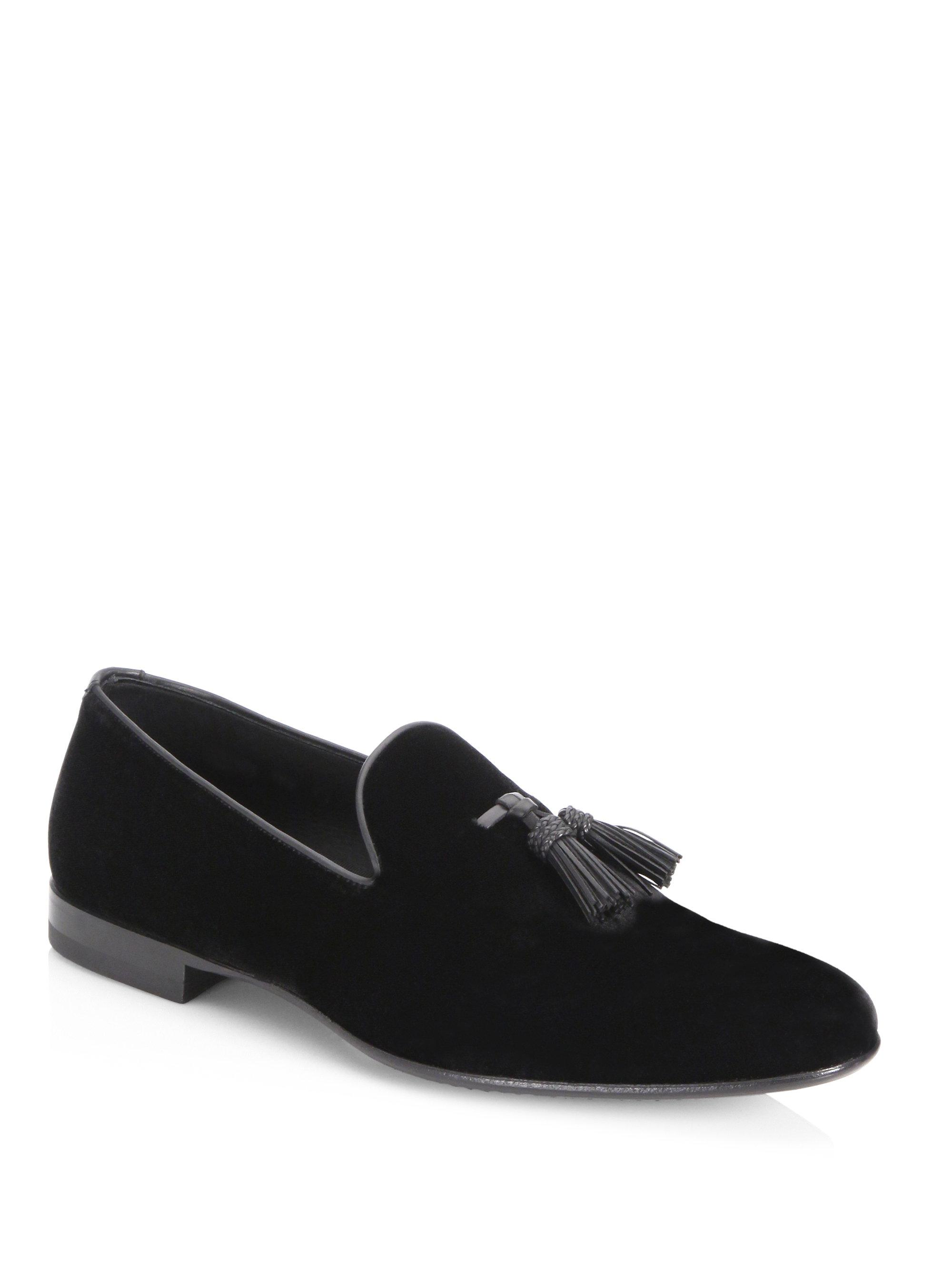 Saks Fifth AvenueCOLLECTION BY MAGNANNI Multi-Tassel Velvet Evening Loafers oFuBg1