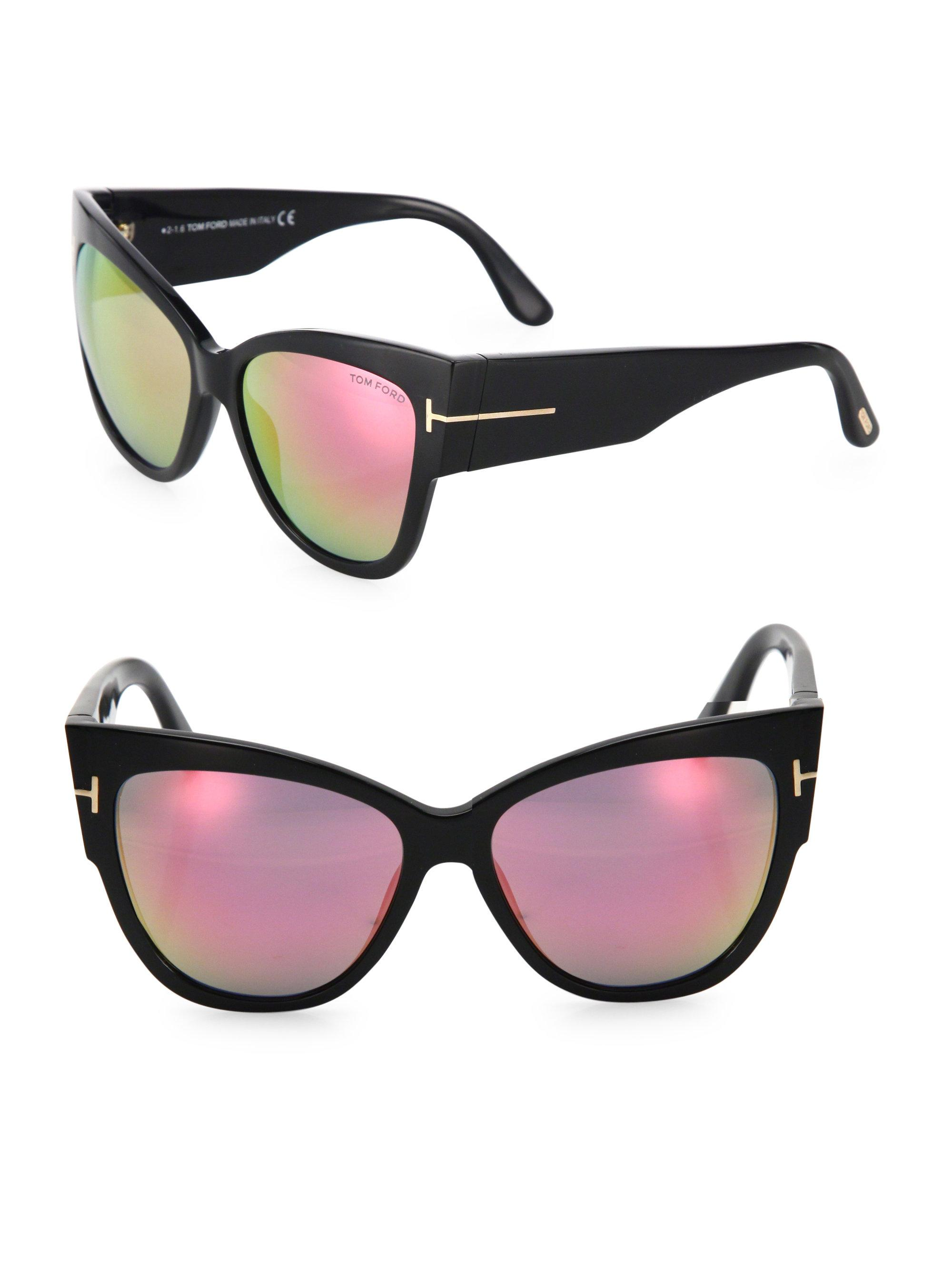 164004ce3e1a Lyst - Tom Ford Anoushka 57mm Mirrored Cat Eye Sunglasses