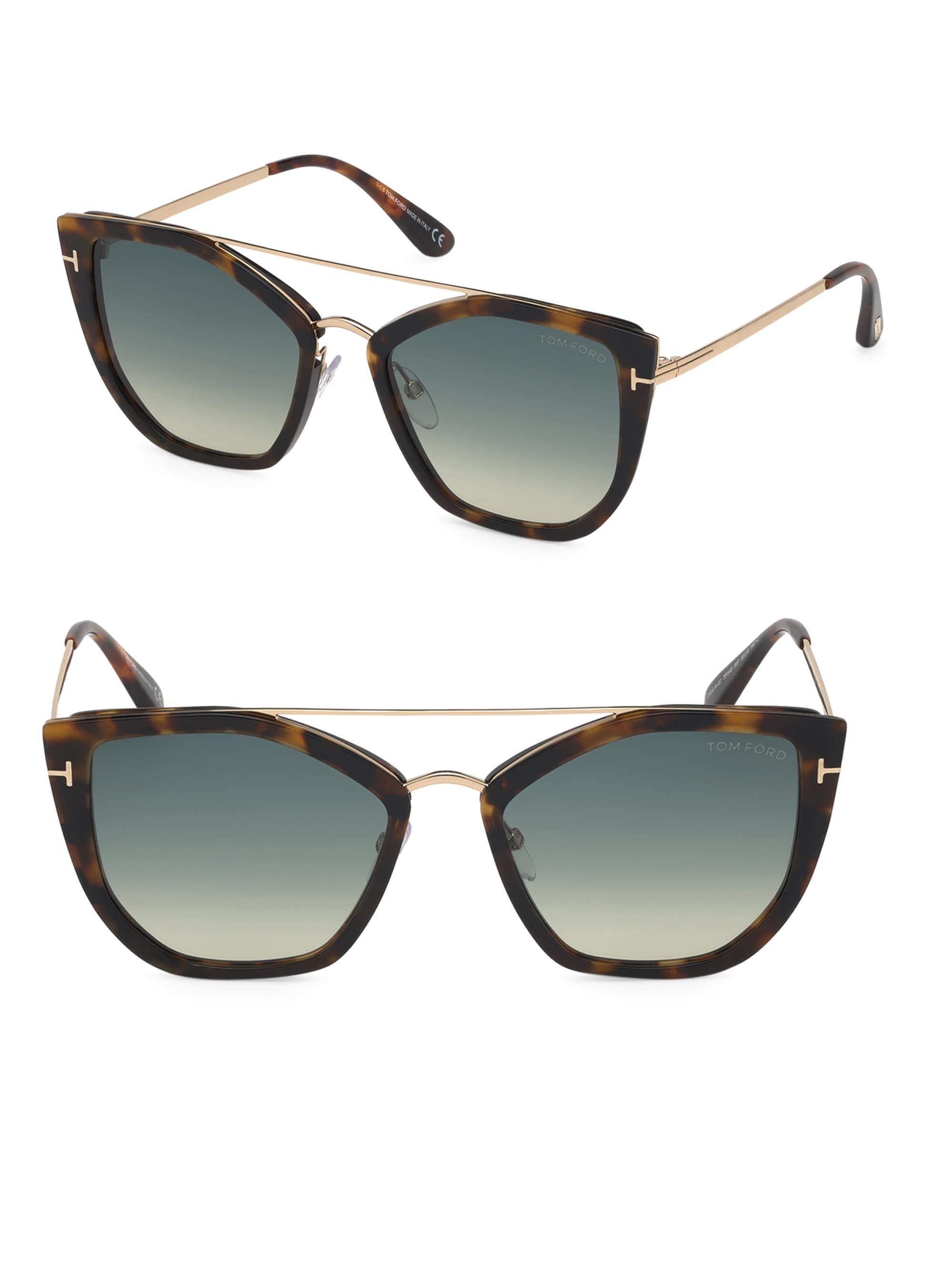 5e3d4df25a1ba Tom Ford - Gray Women s Dahlia 55mm Cat Eye Sunglasses - Brown Grey - Lyst.  View fullscreen