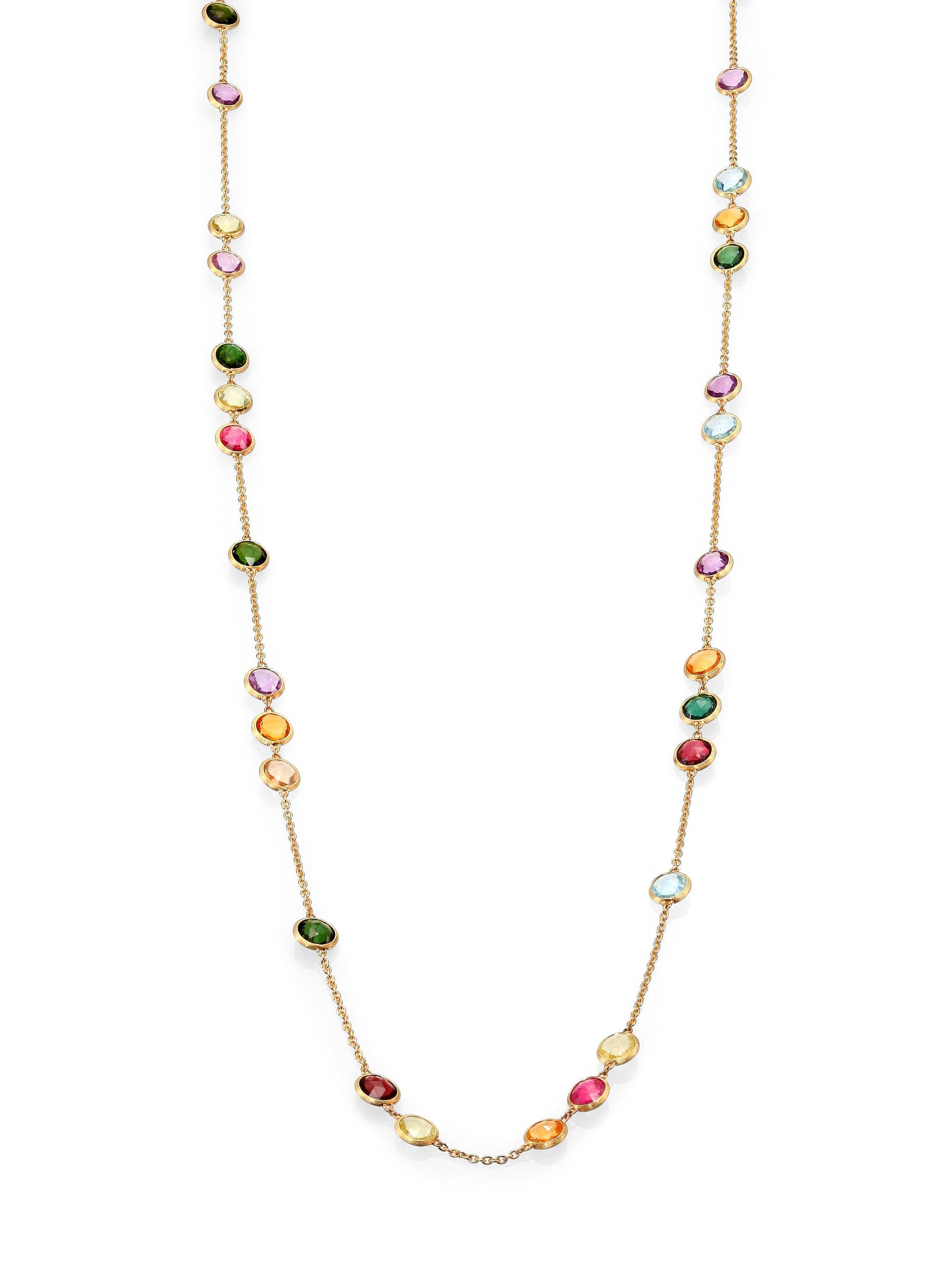 Marco Bicego Jaipur Gold Link-Station Necklace 0RQaHg