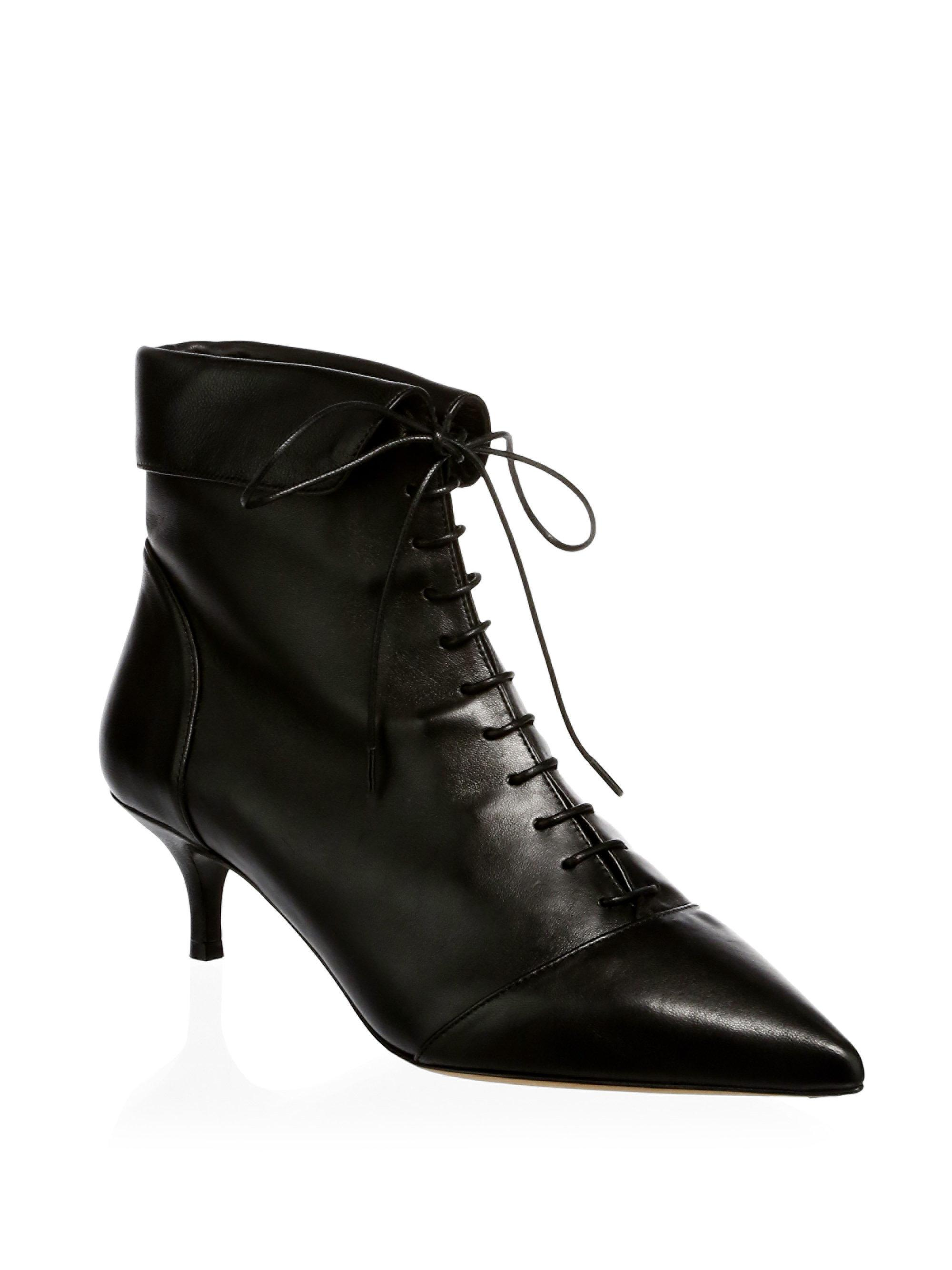 Tabitha Simmons Pointed-Toe Leather Booties free shipping shop offer ZYwcCDK