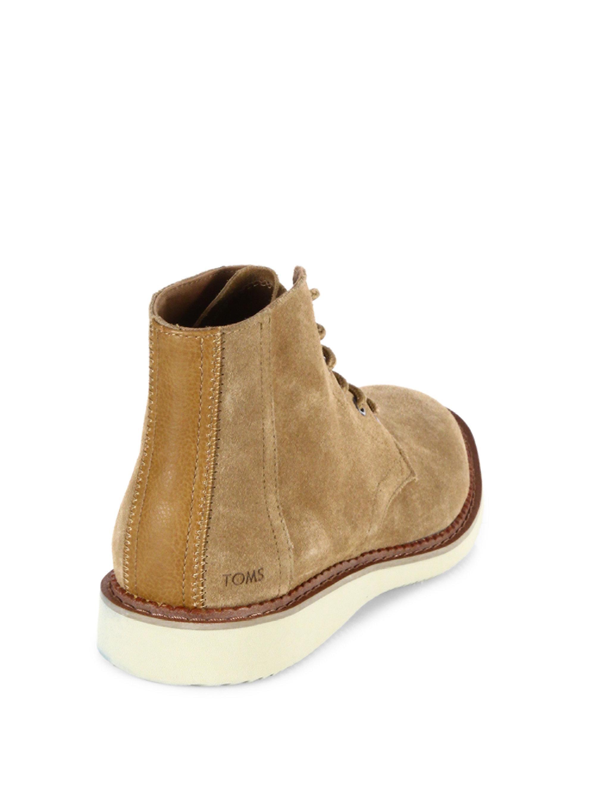 3aec2eb5ef3 TOMS Porter Suede Desert Boots in Natural for Men - Lyst