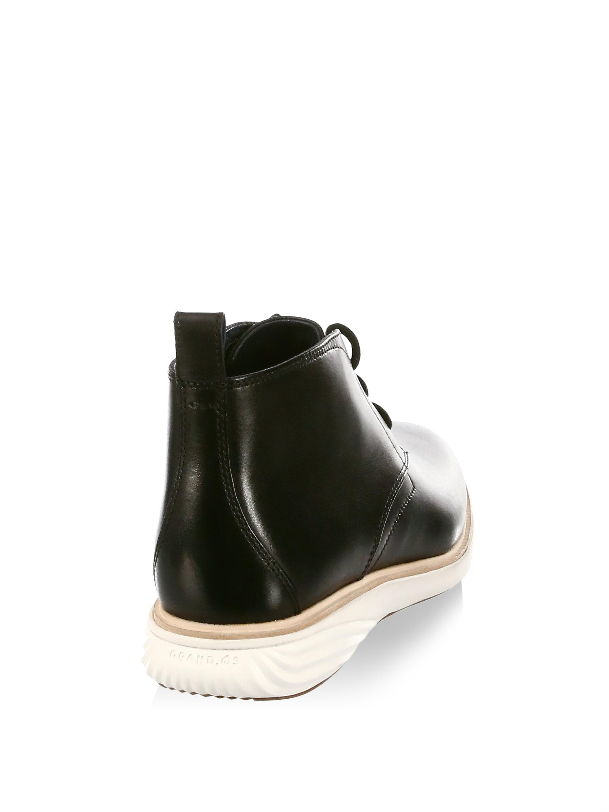 Cole Haan GrandEvolution Round Toe Leather Chukka Boots zN2Kq6UAMs