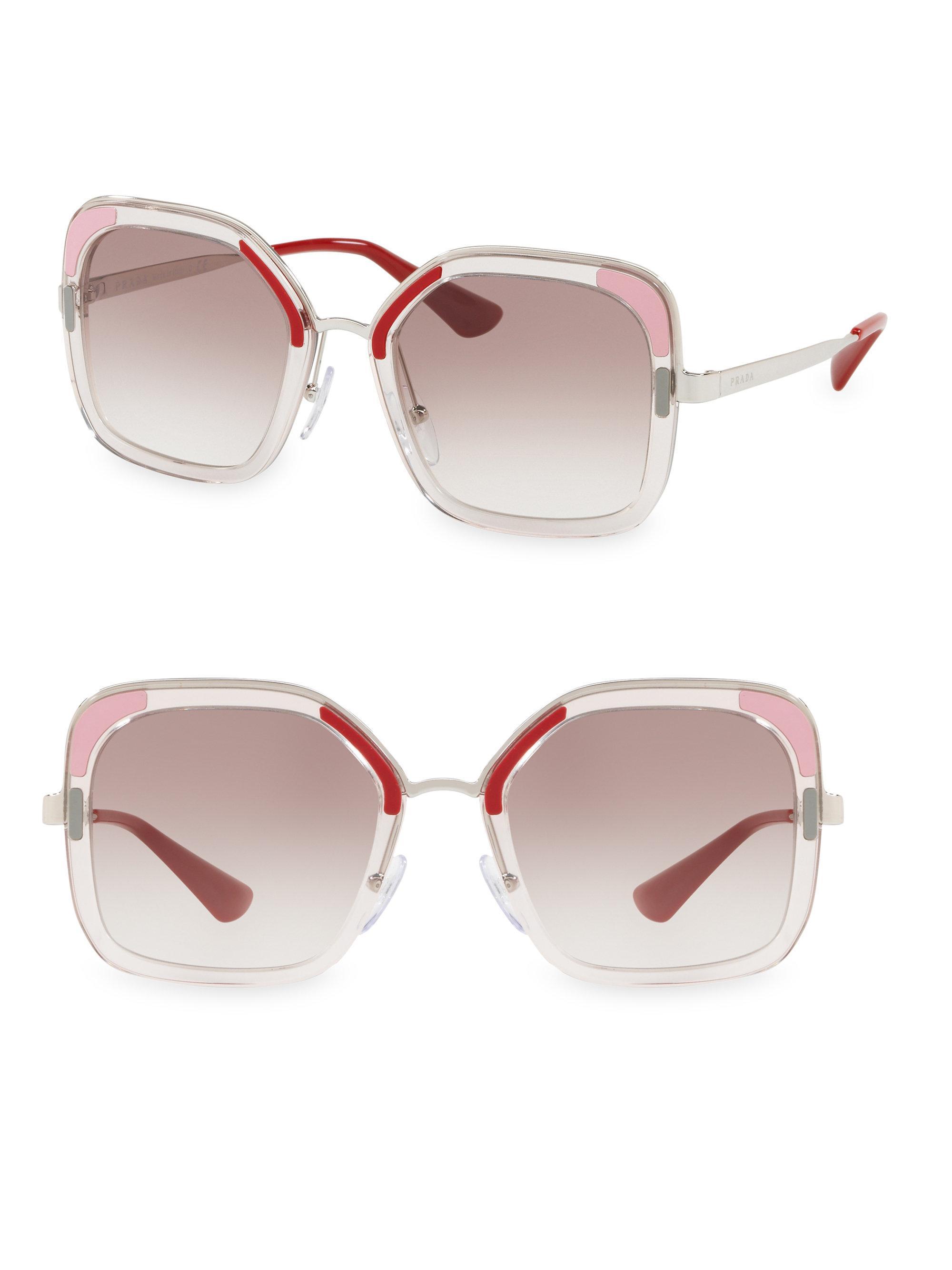 26ba669aa0 ... coupon for prada translucent two tone sunglasses lyst 47fee 20f78