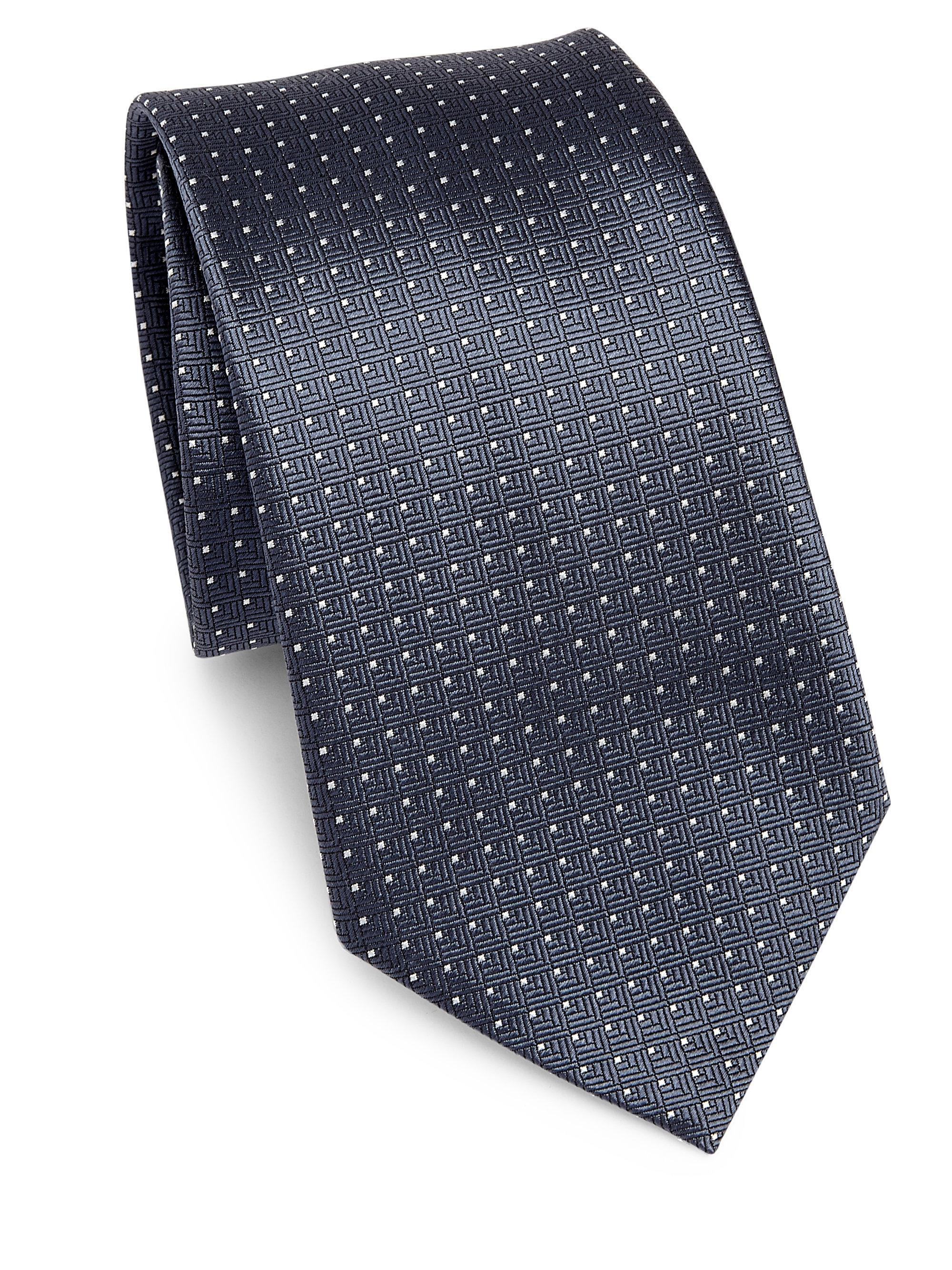 53785dc78aa3 Lyst - Emporio Armani Men's Geometric Silk Tie - Dark Grey in Gray ...