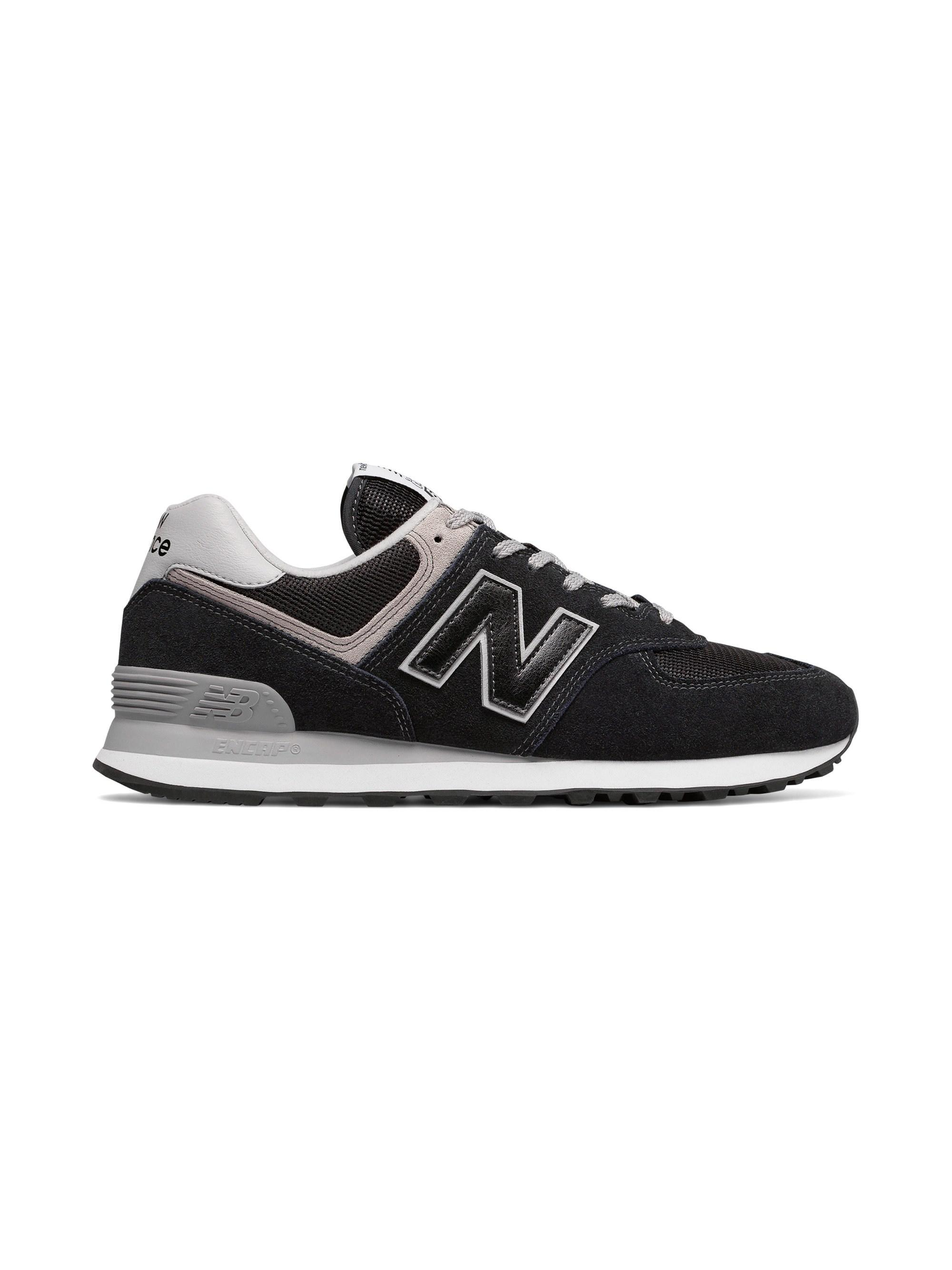 a19b03405d566 New Balance Men's Classic 574 Suede Lace Up Sneakers in Black for ...