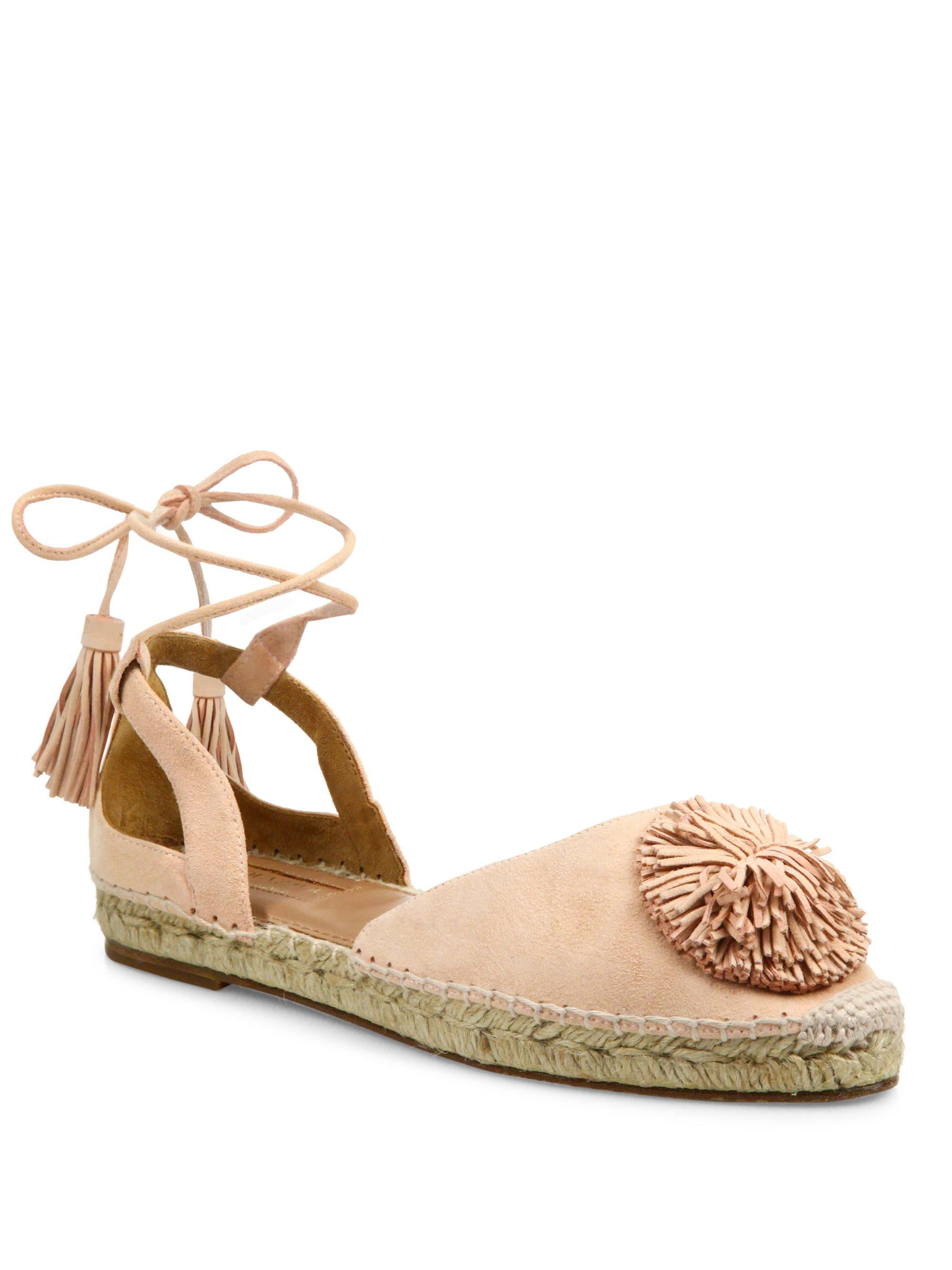 Aquazzura Sunshine Wrap-Around Espadrilles wholesale price sale online LVwH7QHx