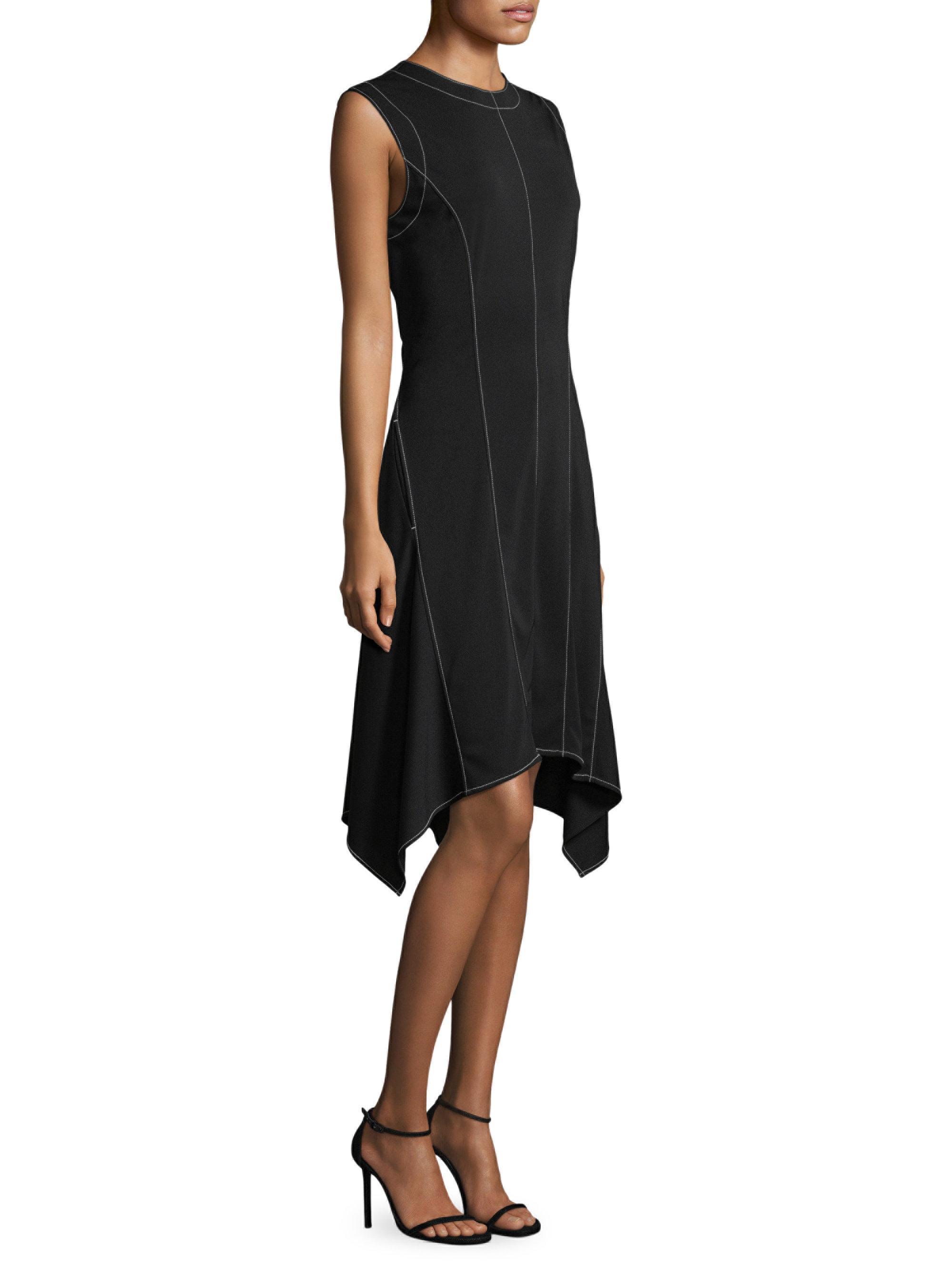 Knee Length Asymmetrical Dress