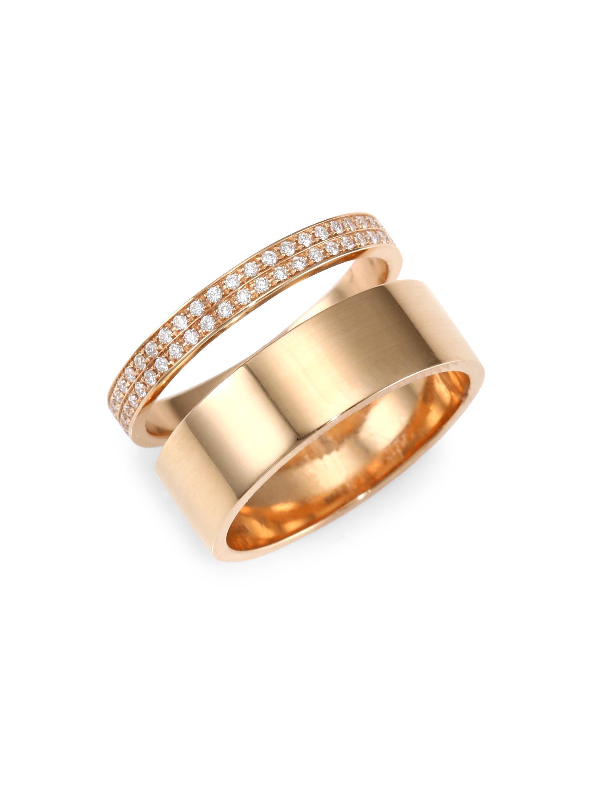 Repossi Berbère Three-Row Diamond Ring in 18K Rose Gold ZEA4NPkyuB