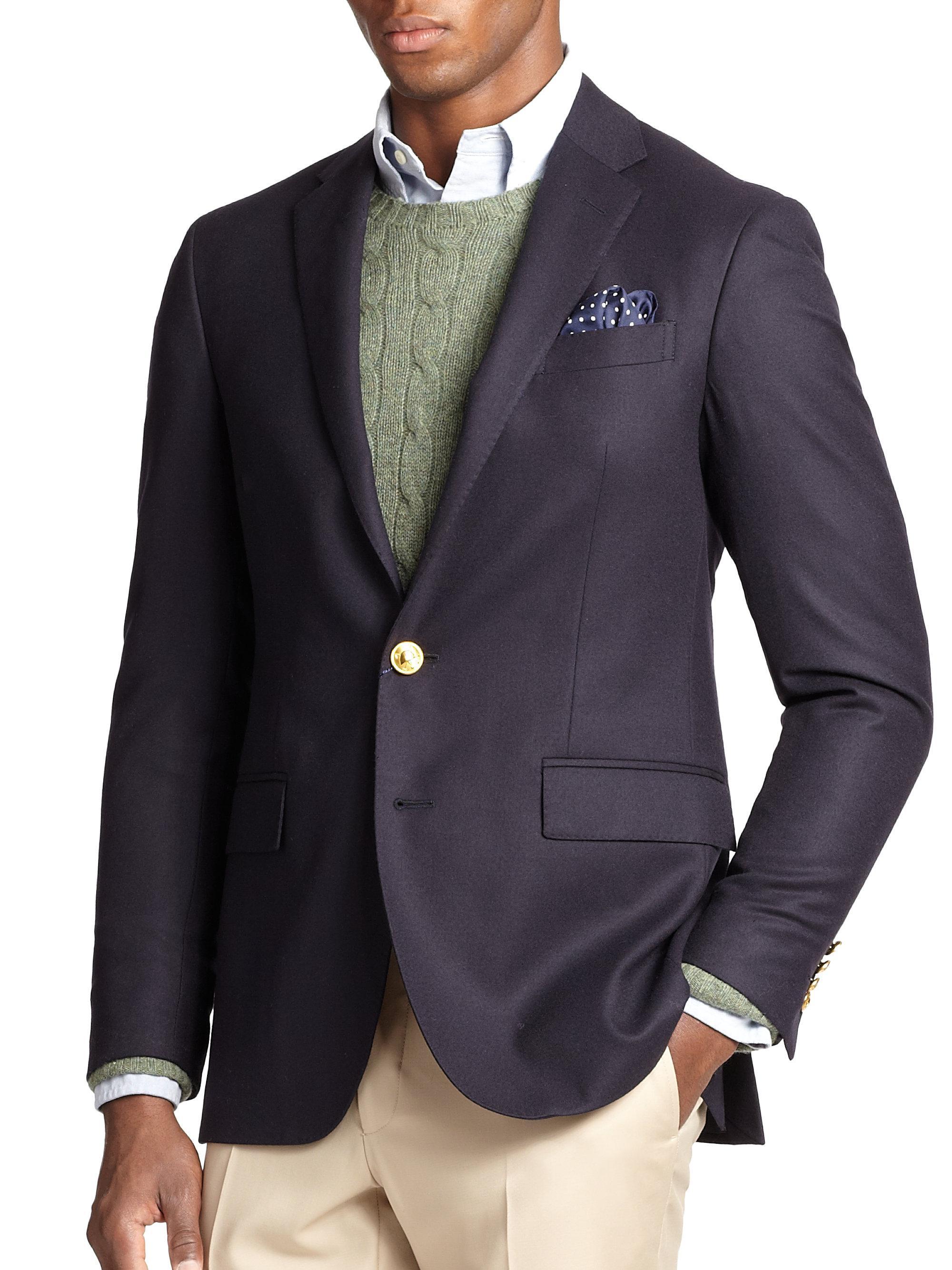 Polo Ralph Lauren. Men\u0027s Blue Polo Doeskin Blazer