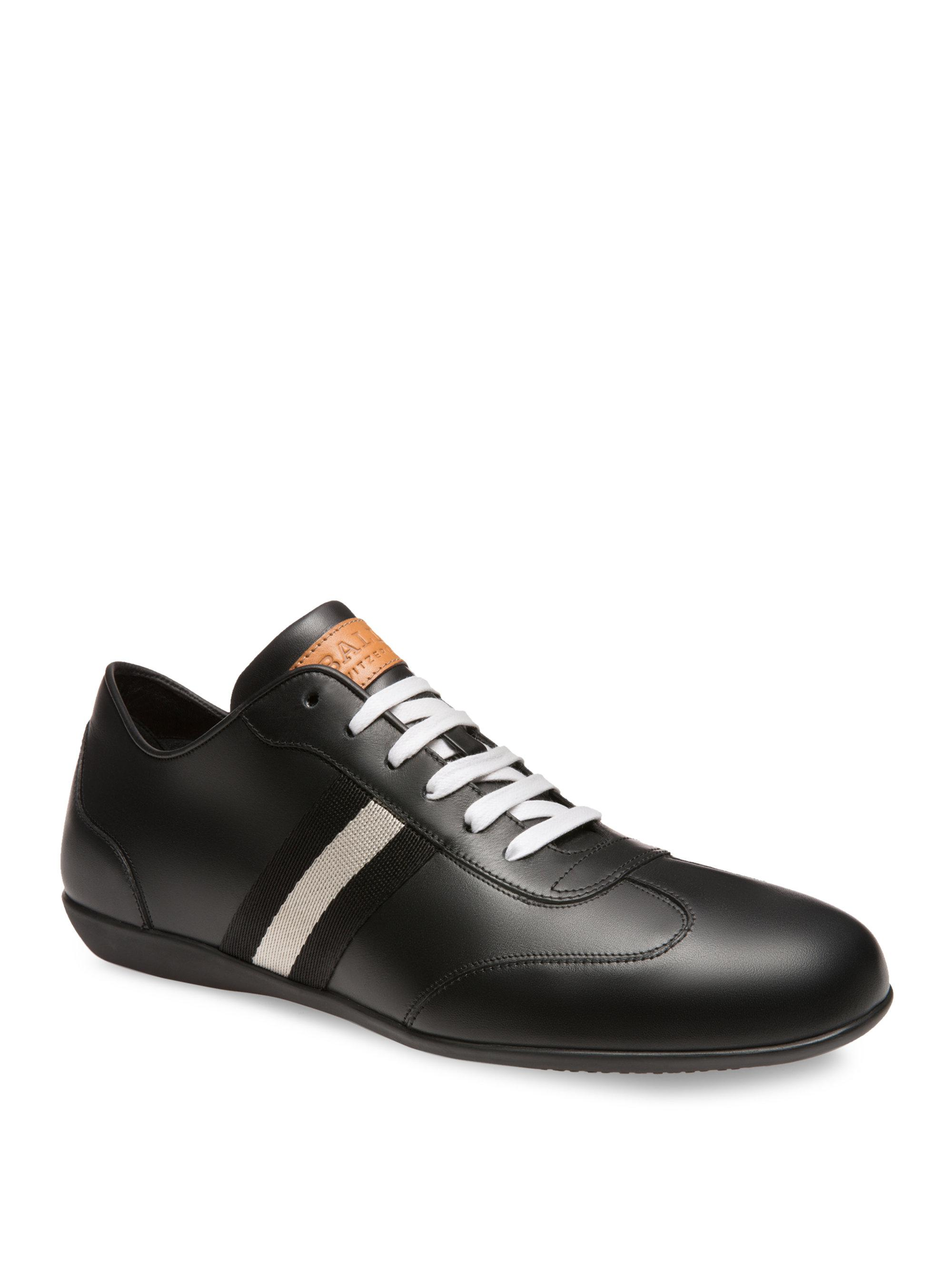 Harlam Black, Mens calf leather sneaker in black Bally