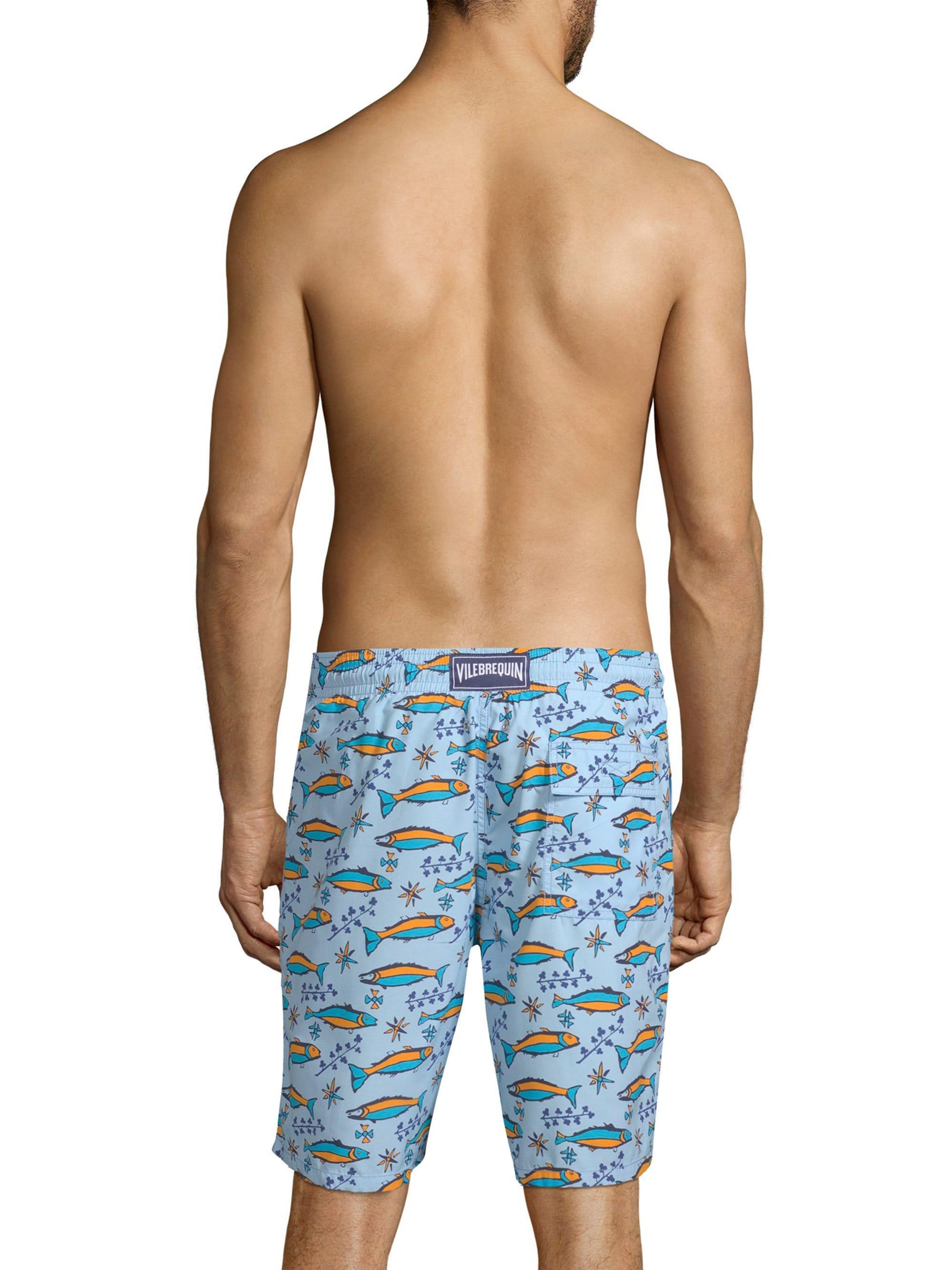87237ac2d3cd7 Vilebrequin - Blue Sardine Print Swim Shorts for Men - Lyst. View fullscreen