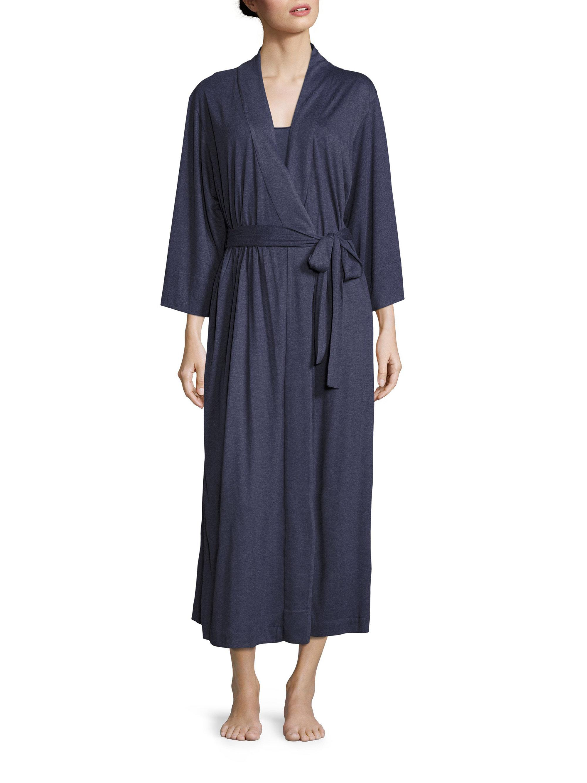 Natori shangri la robe in blue lyst for Saks 5th avenue robes de mariage