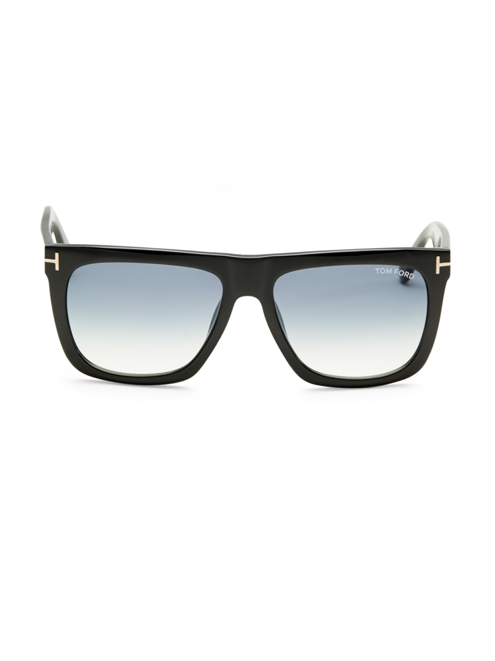 9f35338e18d Tom Ford - Black Morgan 57mm Soft Square Sunglasses for Men - Lyst. View  fullscreen