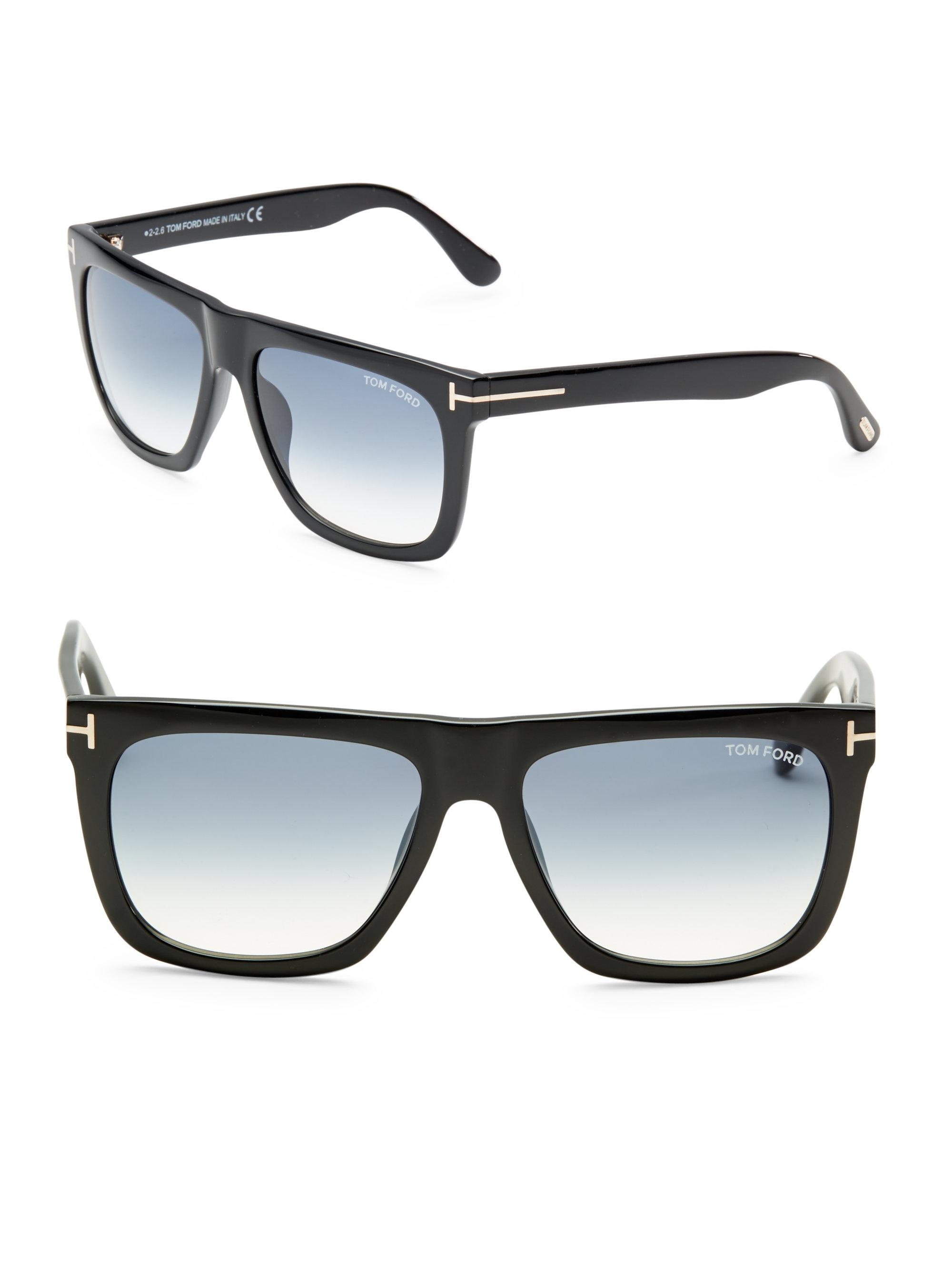 8b7f8923012 Tom Ford - Black Morgan 57mm Soft Square Sunglasses for Men - Lyst. View  fullscreen