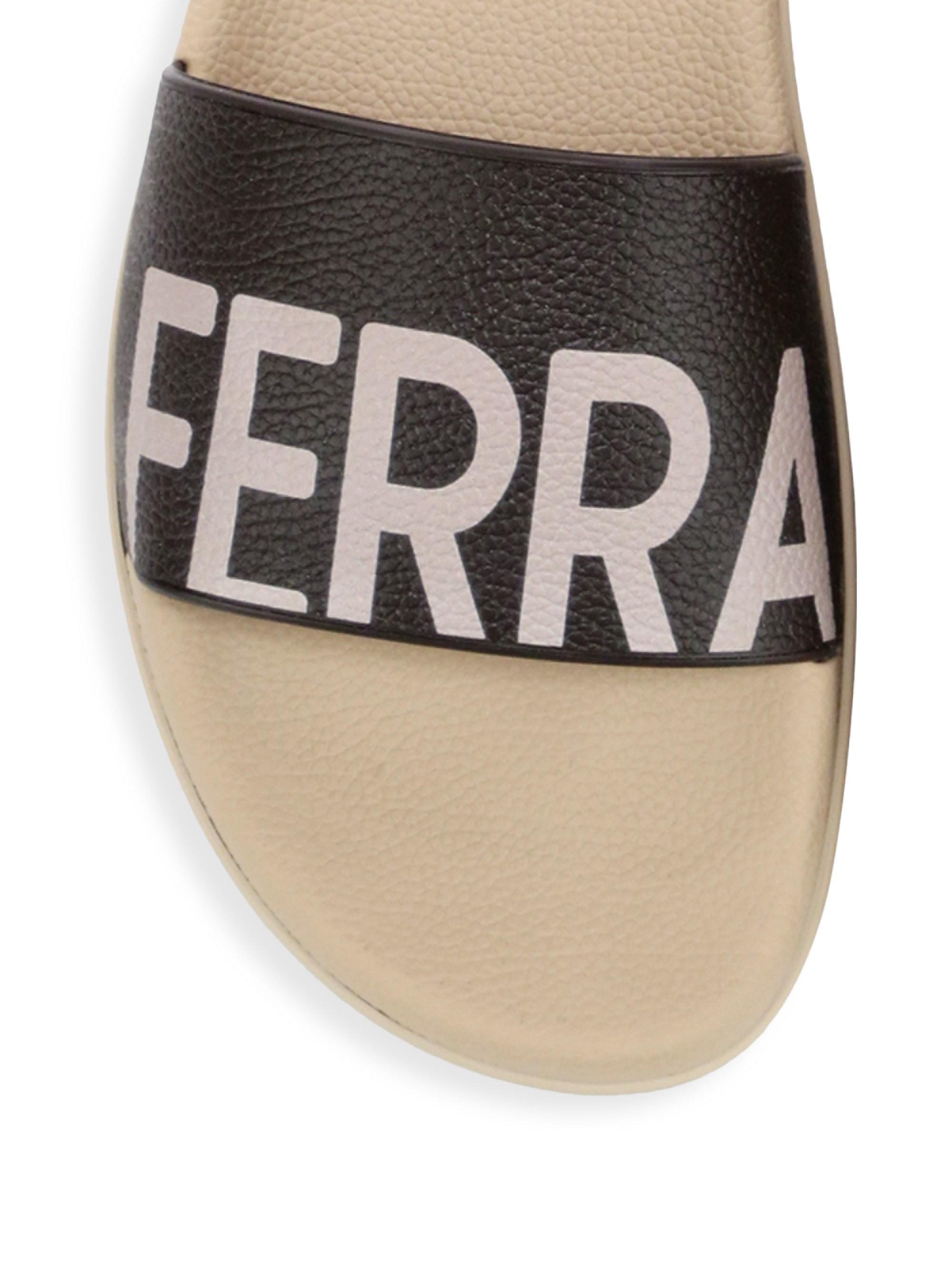 55182769020b Lyst - Ferragamo Amos Slide Sandals in Black for Men