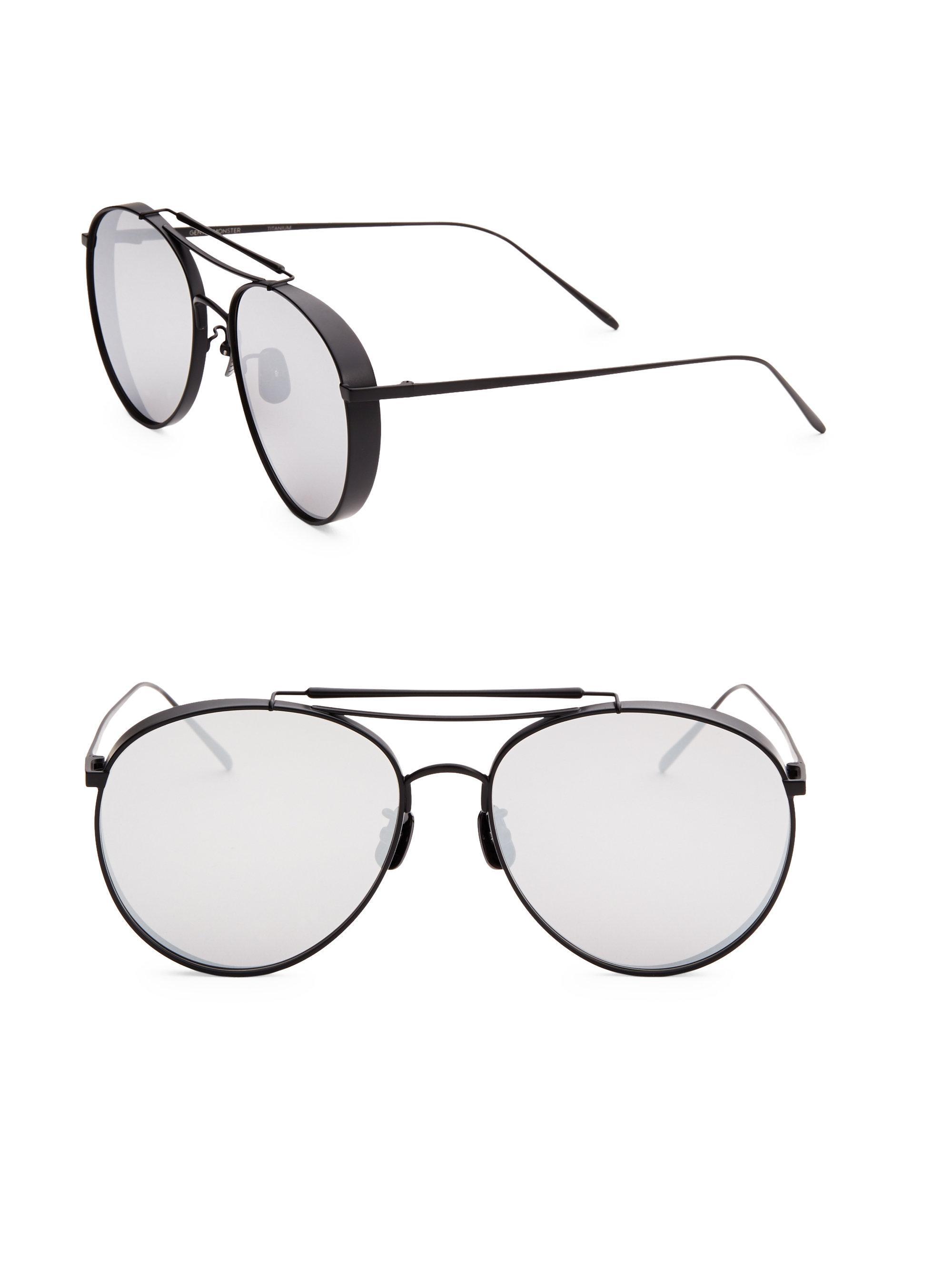 d01279ef6bb3 Lyst - Gentle Monster 60mm Big Bully Aviator Sunglasses in Black