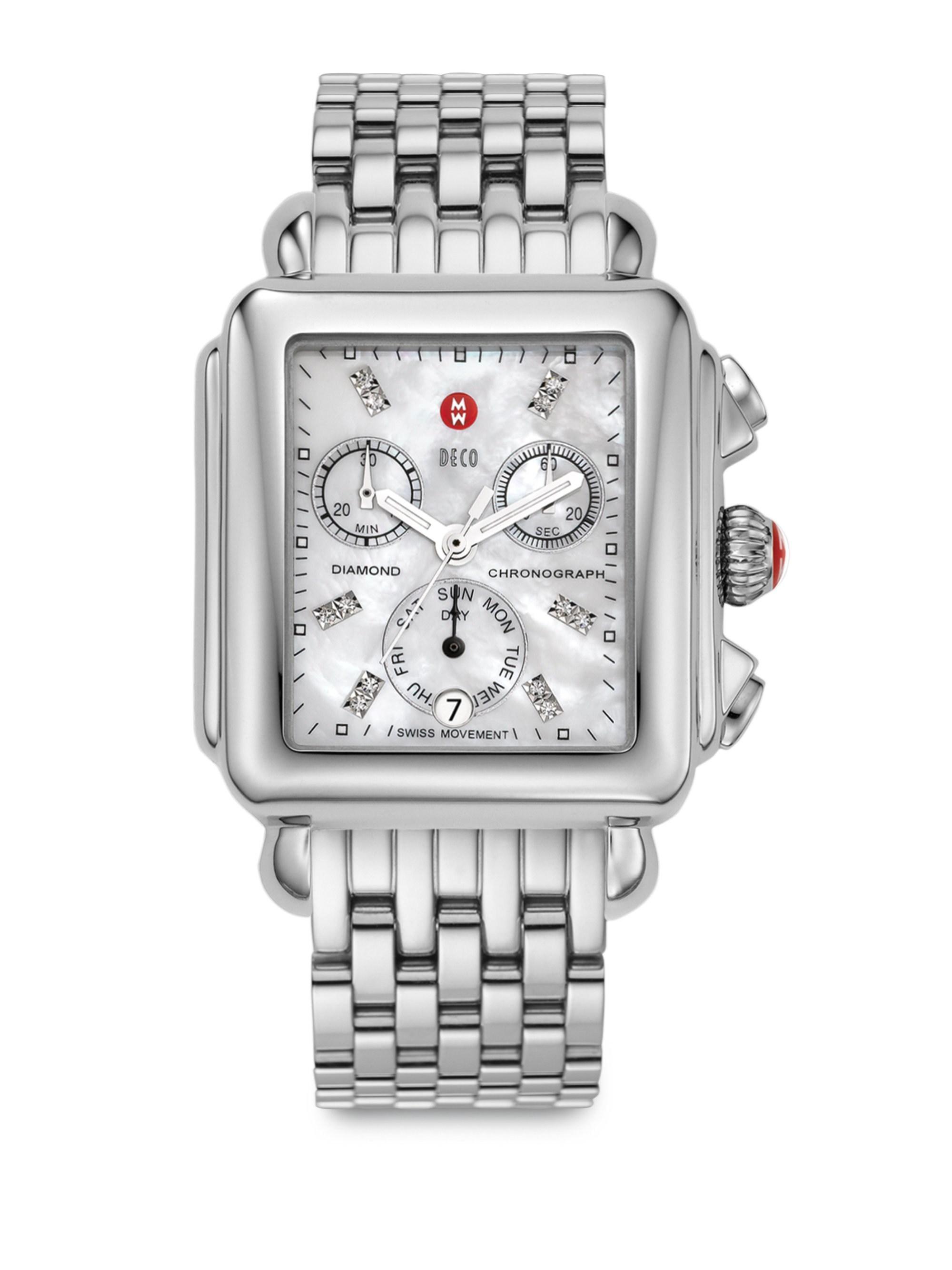 c6c9607bf3a Michele Watches. Women s Metallic Deco ...