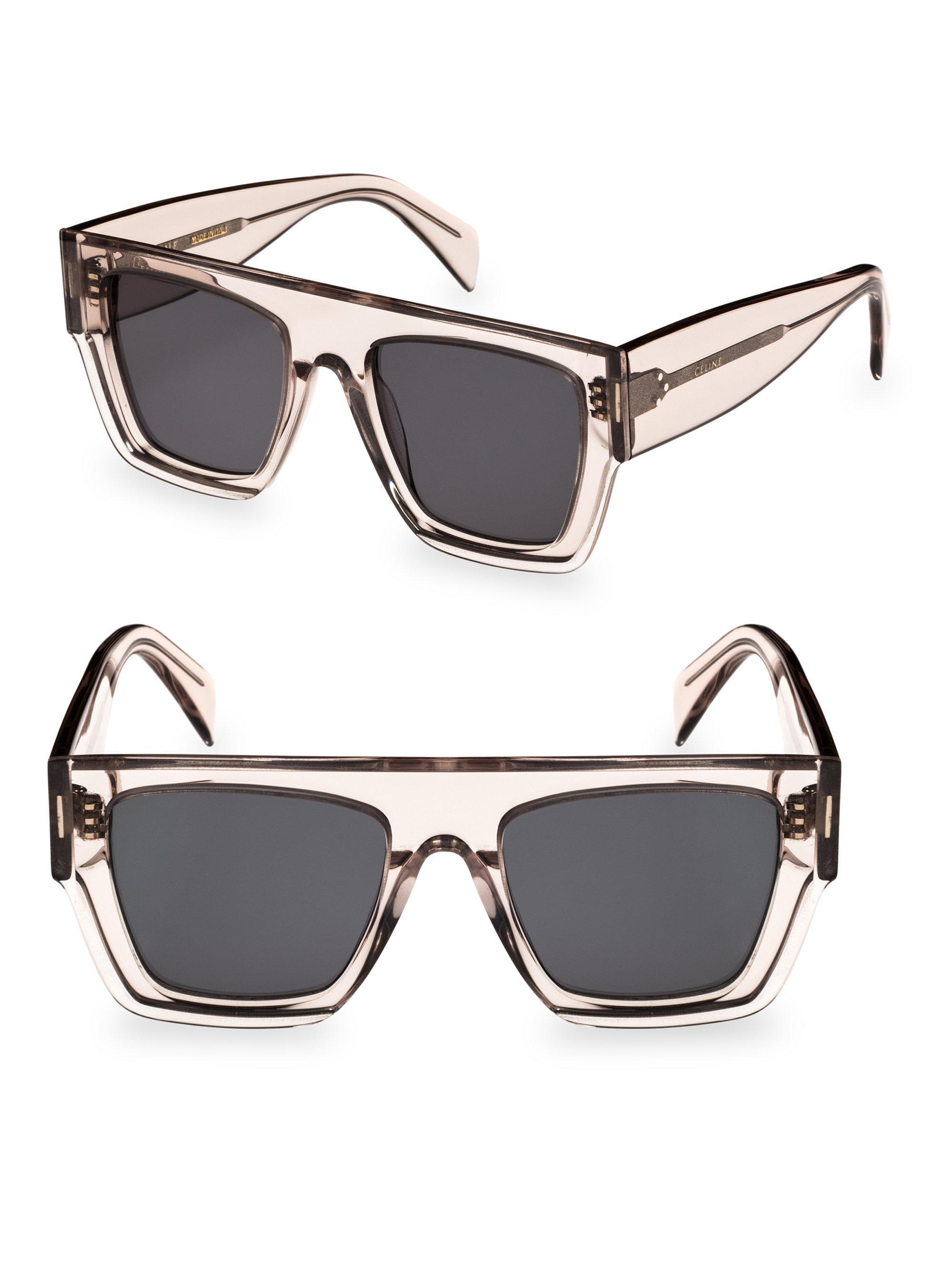 af6355b7fa33 Céline C?line 51mm Rectangular Sunglasses in Pink - Lyst