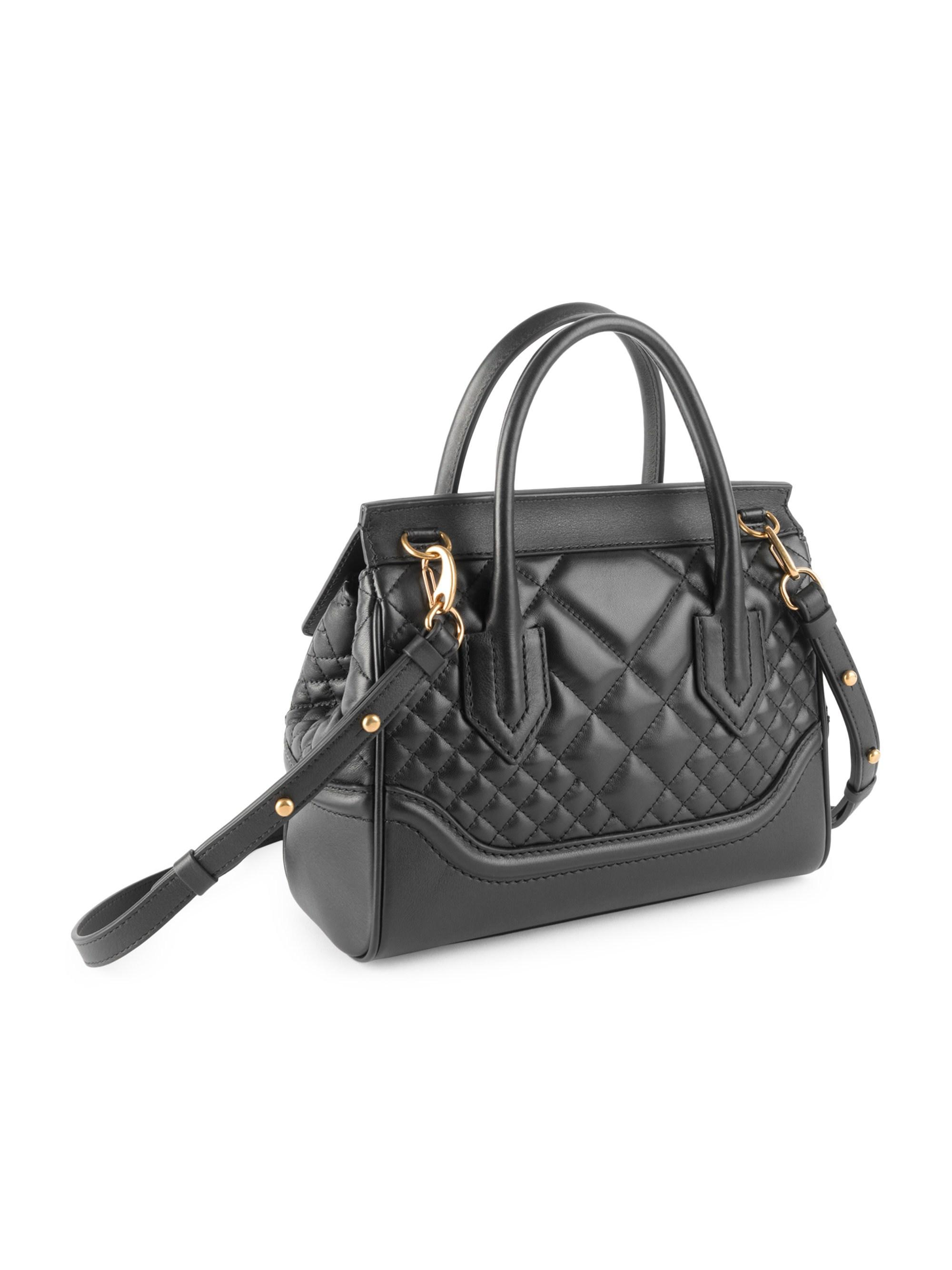 bf4e944dc6 Lyst - Versace Quilted Palazzo Empire Top Handle Bag in Black