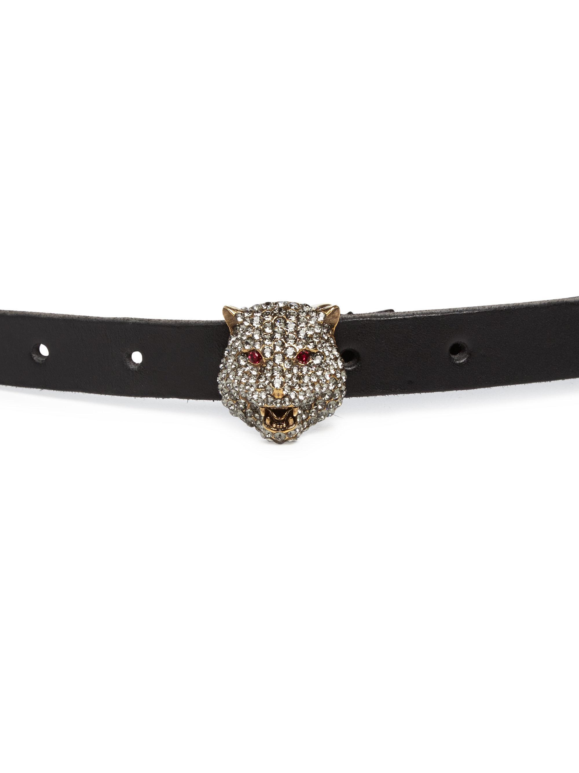 Ivory Crystal GG Elastic Belt Gucci hkQix