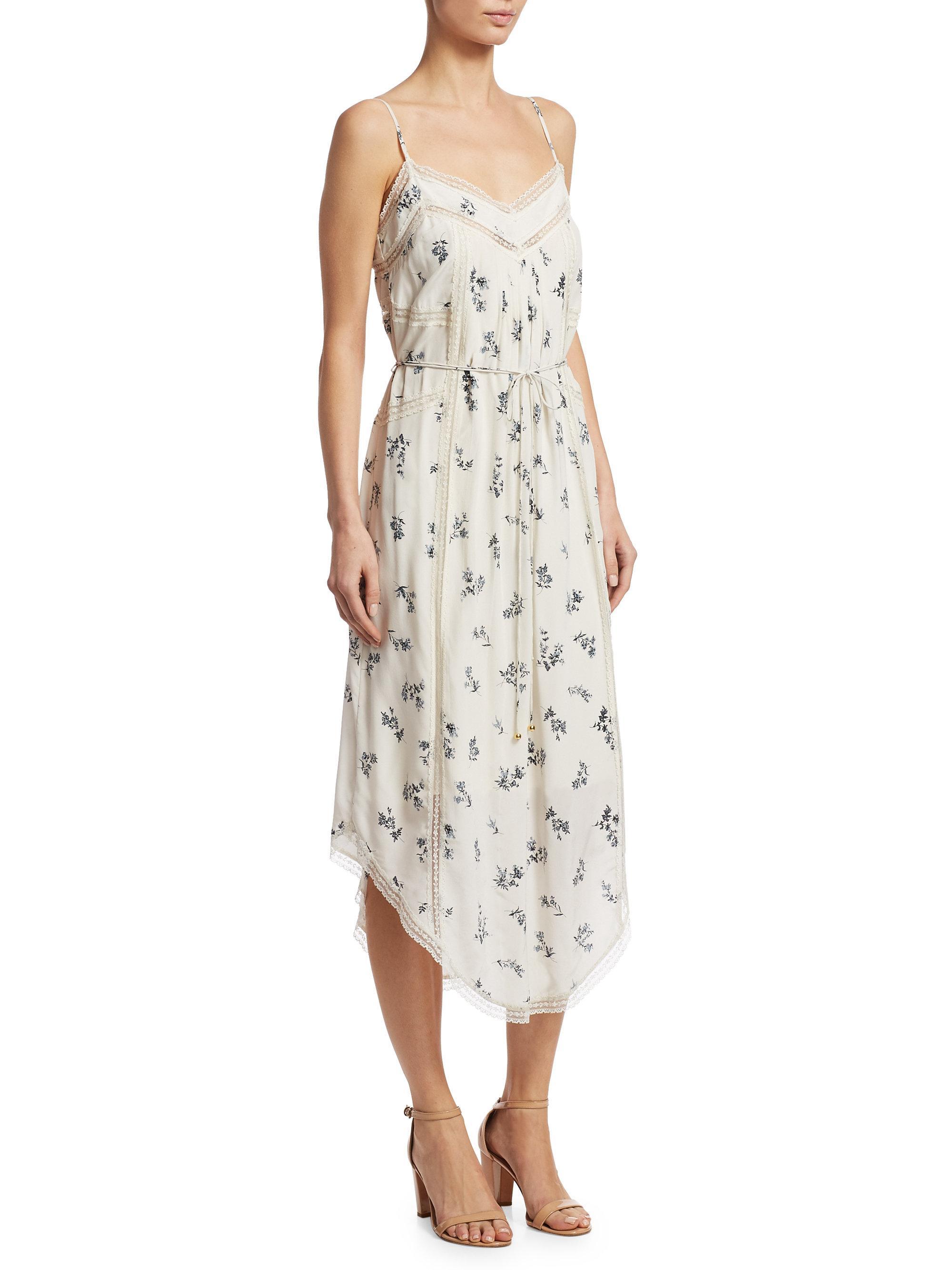 bfa3d1fa60e8 Zimmermann Pintuck Slip Dress - Lyst