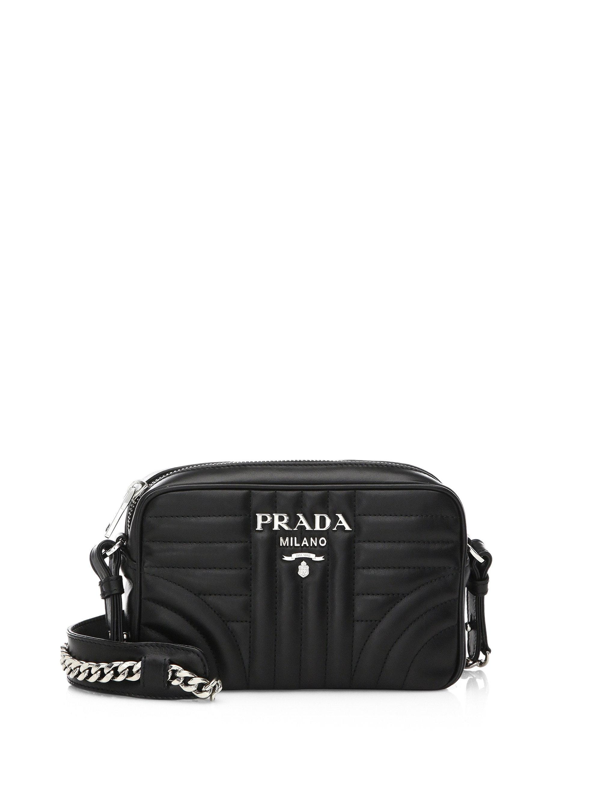 c456e3830036 ... release date prada black quilted crossbody bag lyst. view fullscreen  87b5d a6db6
