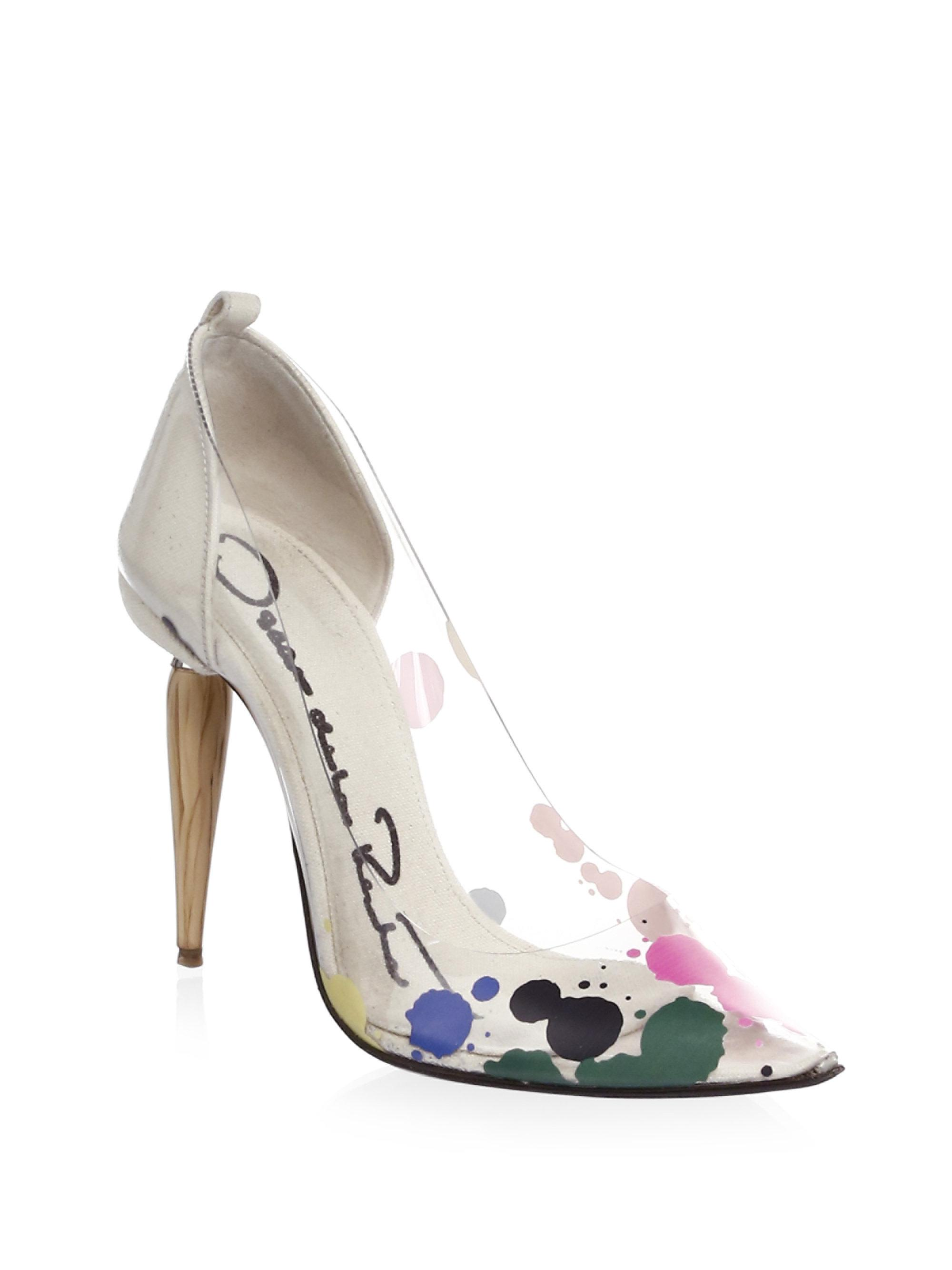 c94145b4de21 Oscar de la Renta - Multicolor Point-toe Pumps - Lyst
